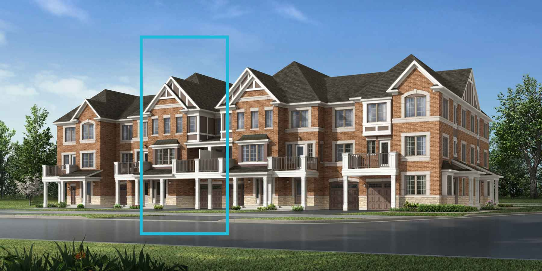 Elmer Plan TownHomes at Seaton Whitevale in Pickering Ontario by Mattamy Homes