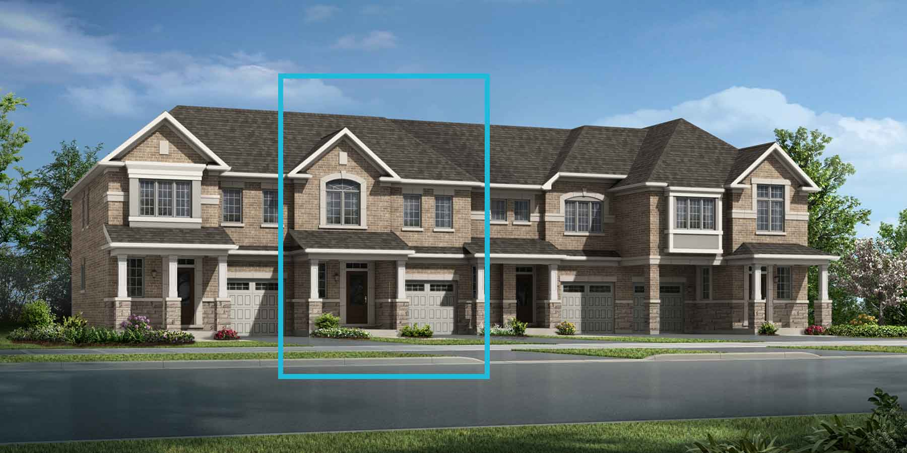 Whitburn Corner Plan TownHomes at Seaton Whitevale in Pickering Ontario by Mattamy Homes