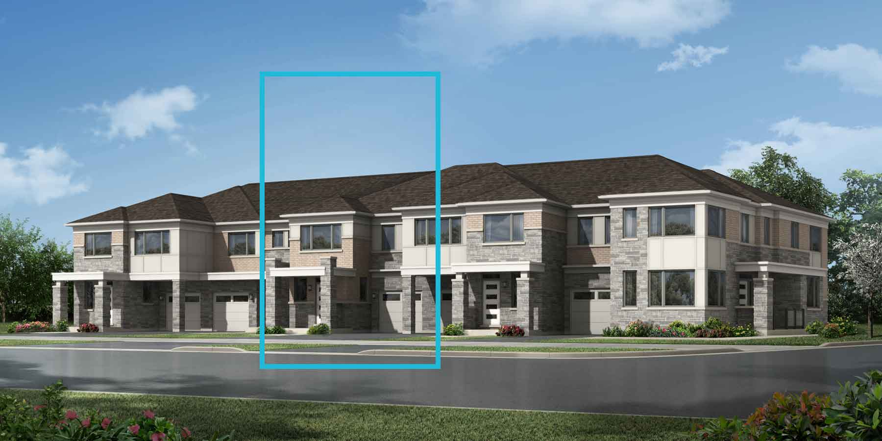 Greenwood Plan TownHomes at Seaton Whitevale in Pickering Ontario by Mattamy Homes