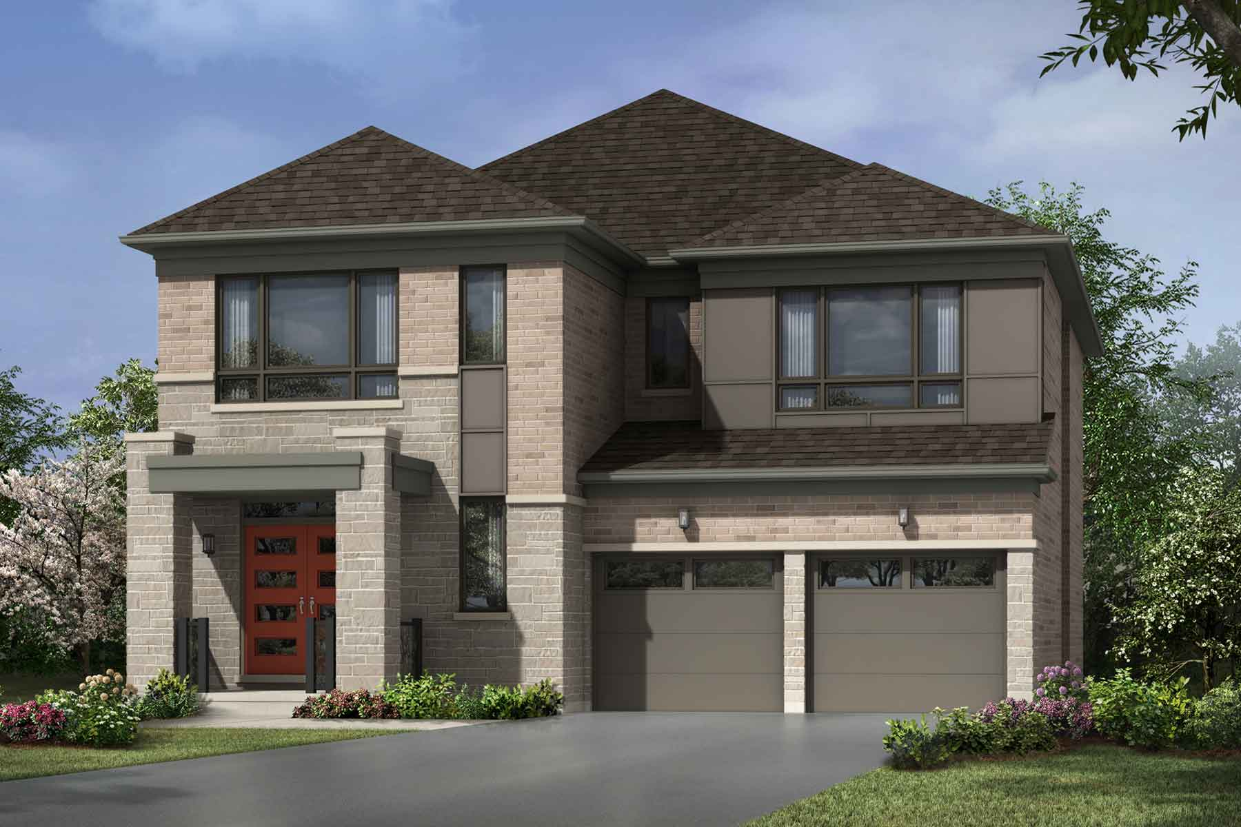 Rosebank Plan modern_seatonwhitevale_hazelwood_main at Seaton Whitevale in Pickering Ontario by Mattamy Homes