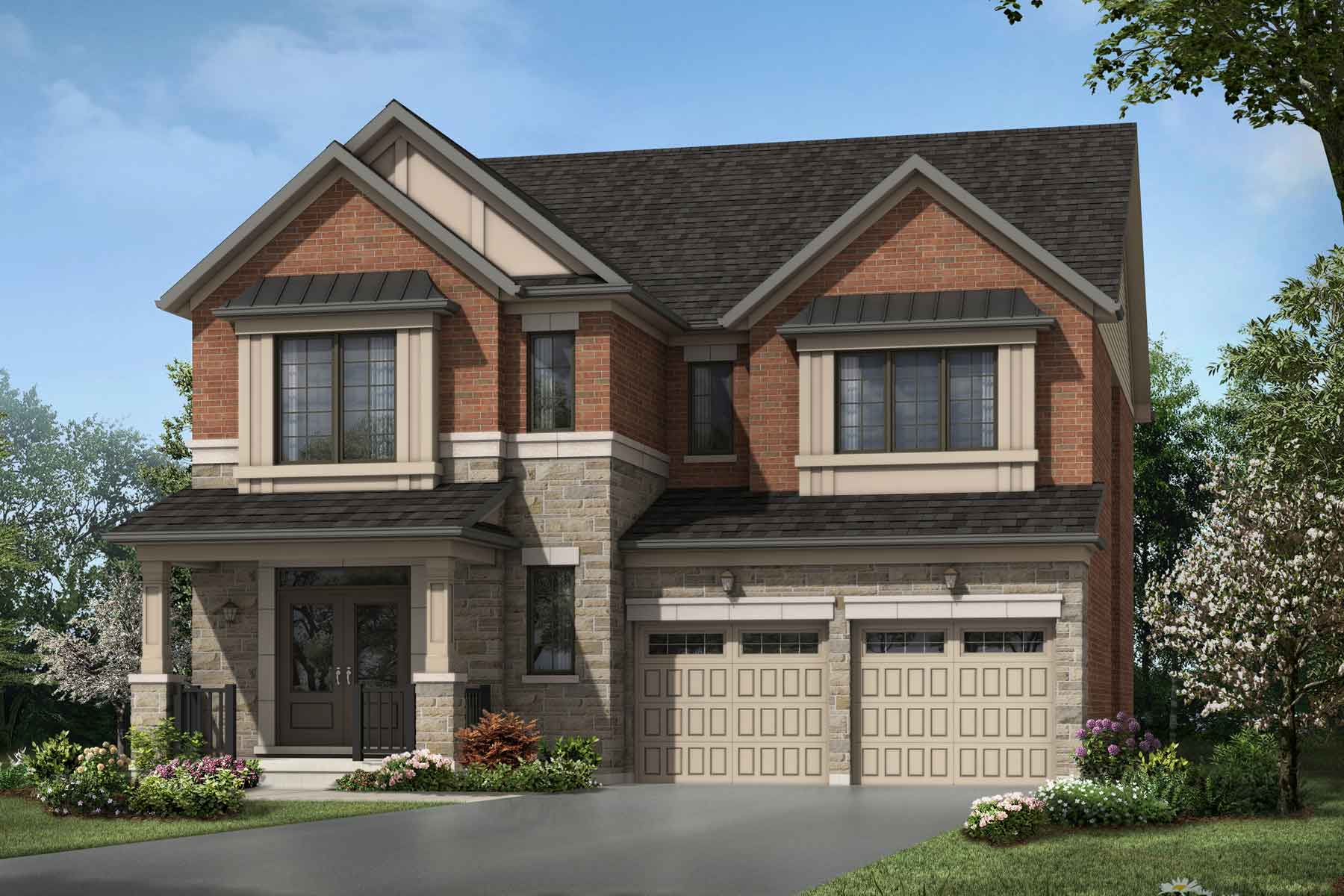 Hazelwood Plan Elevation Front at Seaton Whitevale in Pickering Ontario by Mattamy Homes
