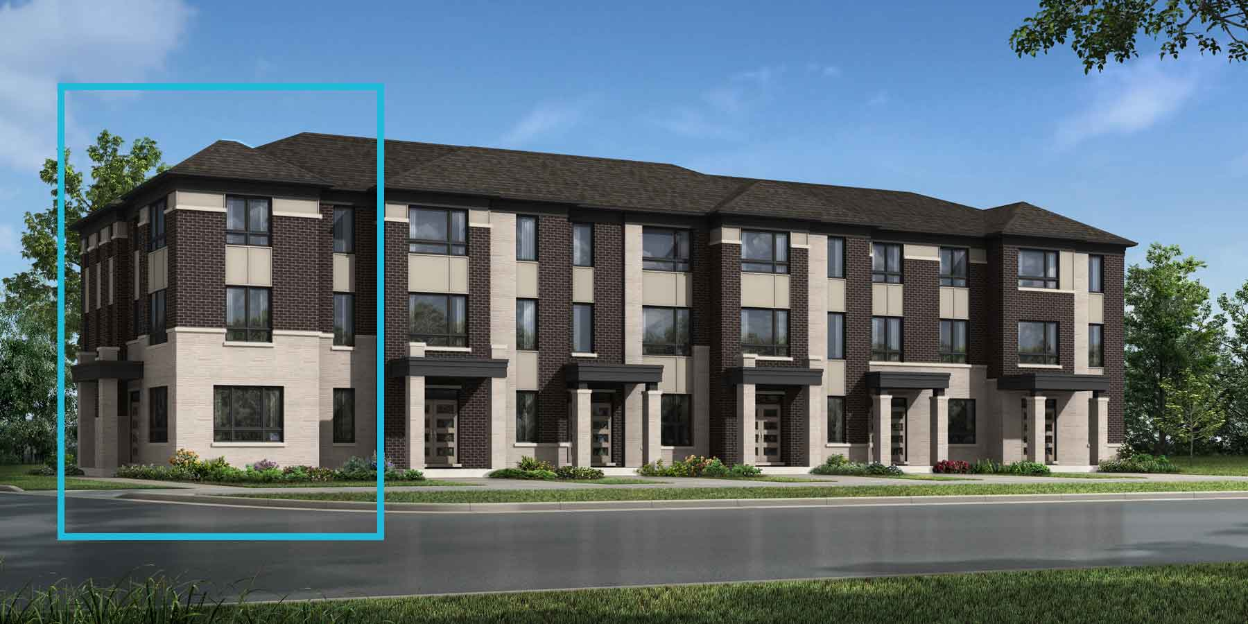 Lupin Corner Plan TownHomes at Seaton Whitevale in Pickering Ontario by Mattamy Homes