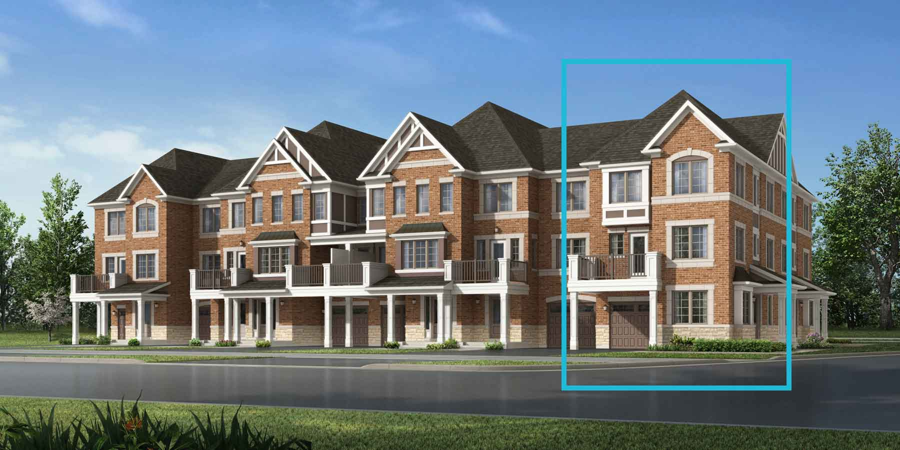 Manning Corner Plan TownHomes at Seaton Whitevale in Pickering Ontario by Mattamy Homes