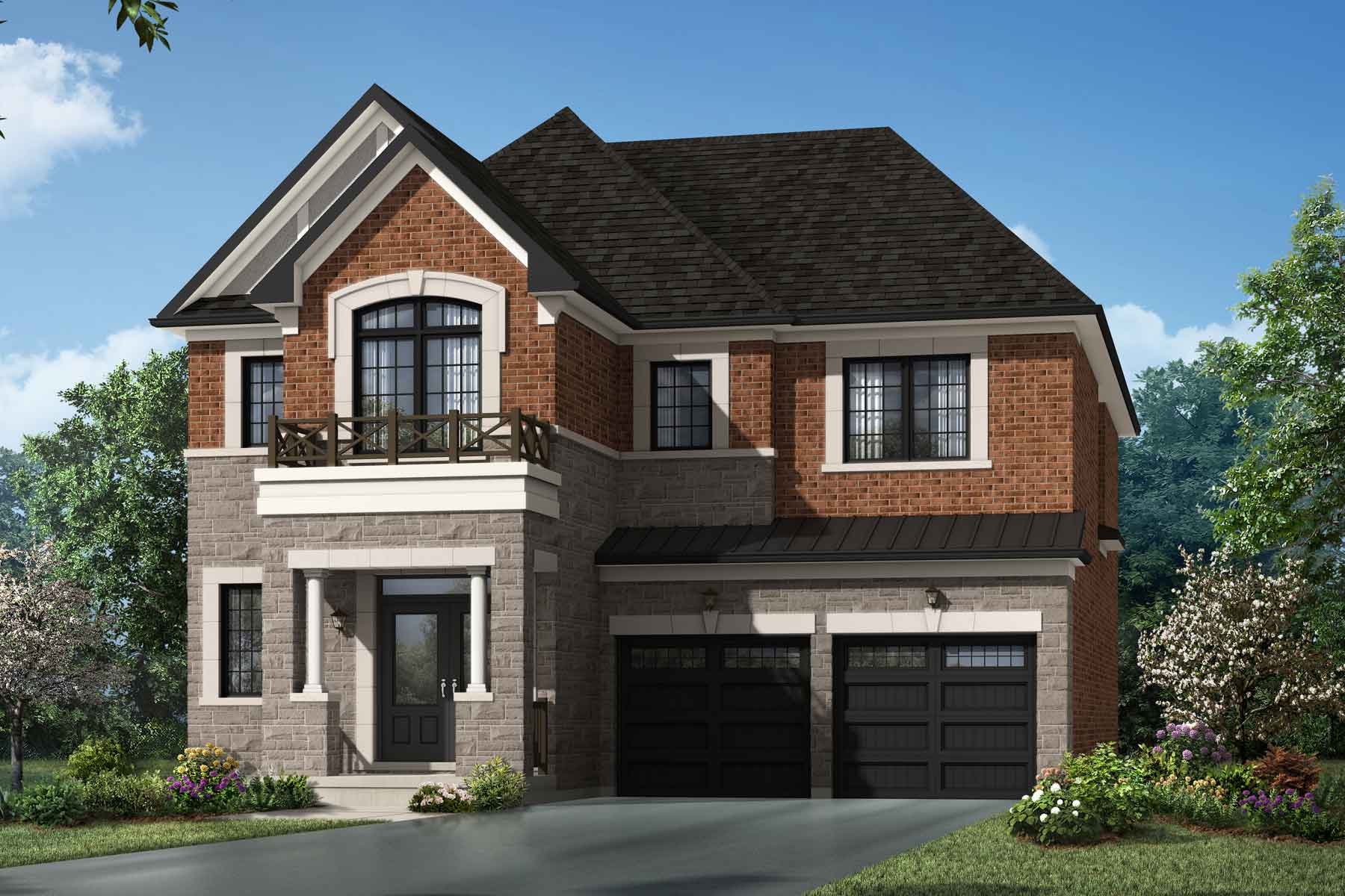 Lupin Corner Plan Elevation Front at Seaton Whitevale in Pickering Ontario by Mattamy Homes