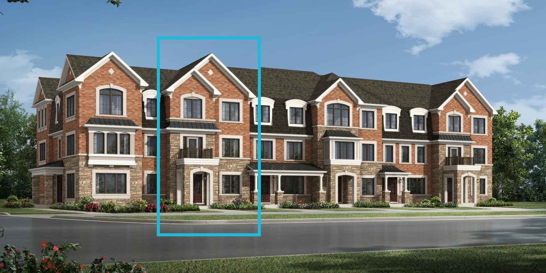 Northampton Plan TownHomes at Seaton Whitevale in Pickering Ontario by Mattamy Homes