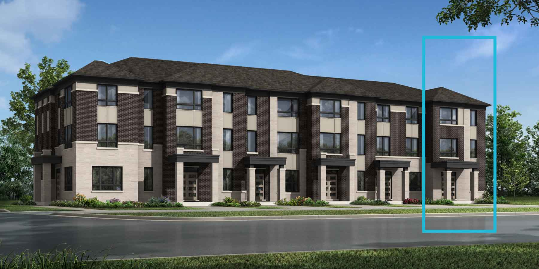 Parkwood End Plan TownHomes at Seaton Whitevale in Pickering Ontario by Mattamy Homes