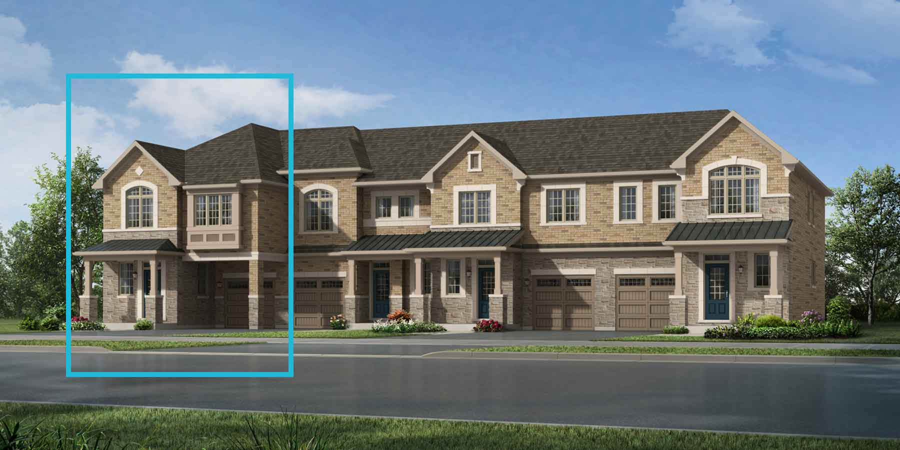 Pinegrove End Plan TownHomes at Seaton Whitevale in Pickering Ontario by Mattamy Homes
