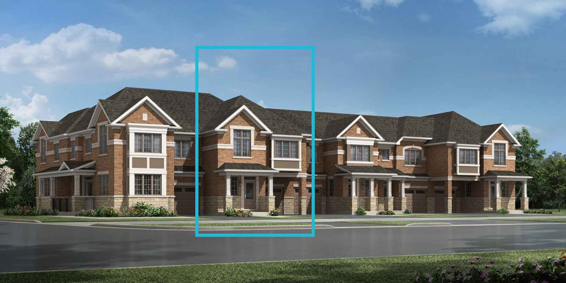 Pinegrove Plan TownHomes at Seaton Whitevale in Pickering Ontario by Mattamy Homes