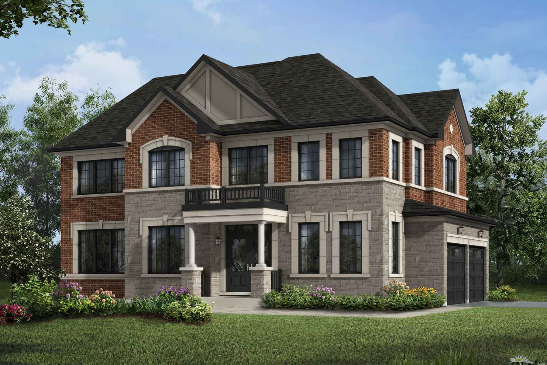 Ritson Corner Plan Elevation Front at Seaton Whitevale in Pickering Ontario by Mattamy Homes