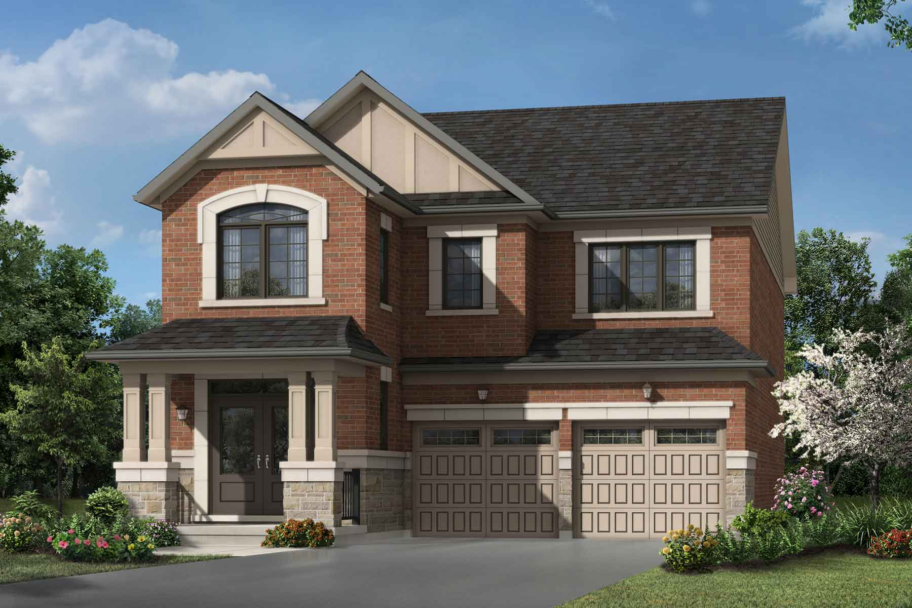 Robinson Plan Elevation Front at Seaton Whitevale in Pickering Ontario by Mattamy Homes