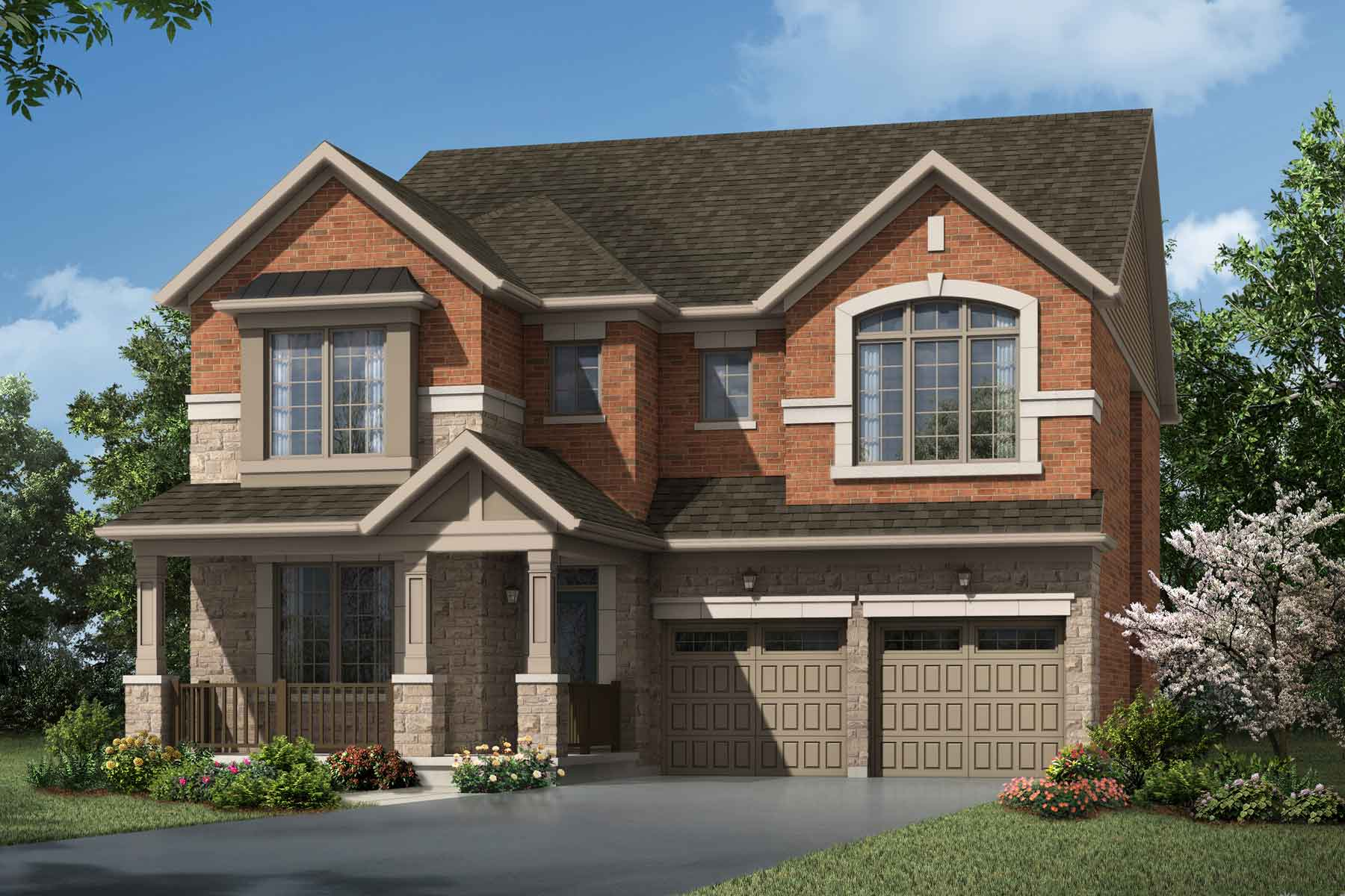 Rosebank Plan Elevation Front at Seaton Whitevale in Pickering Ontario by Mattamy Homes