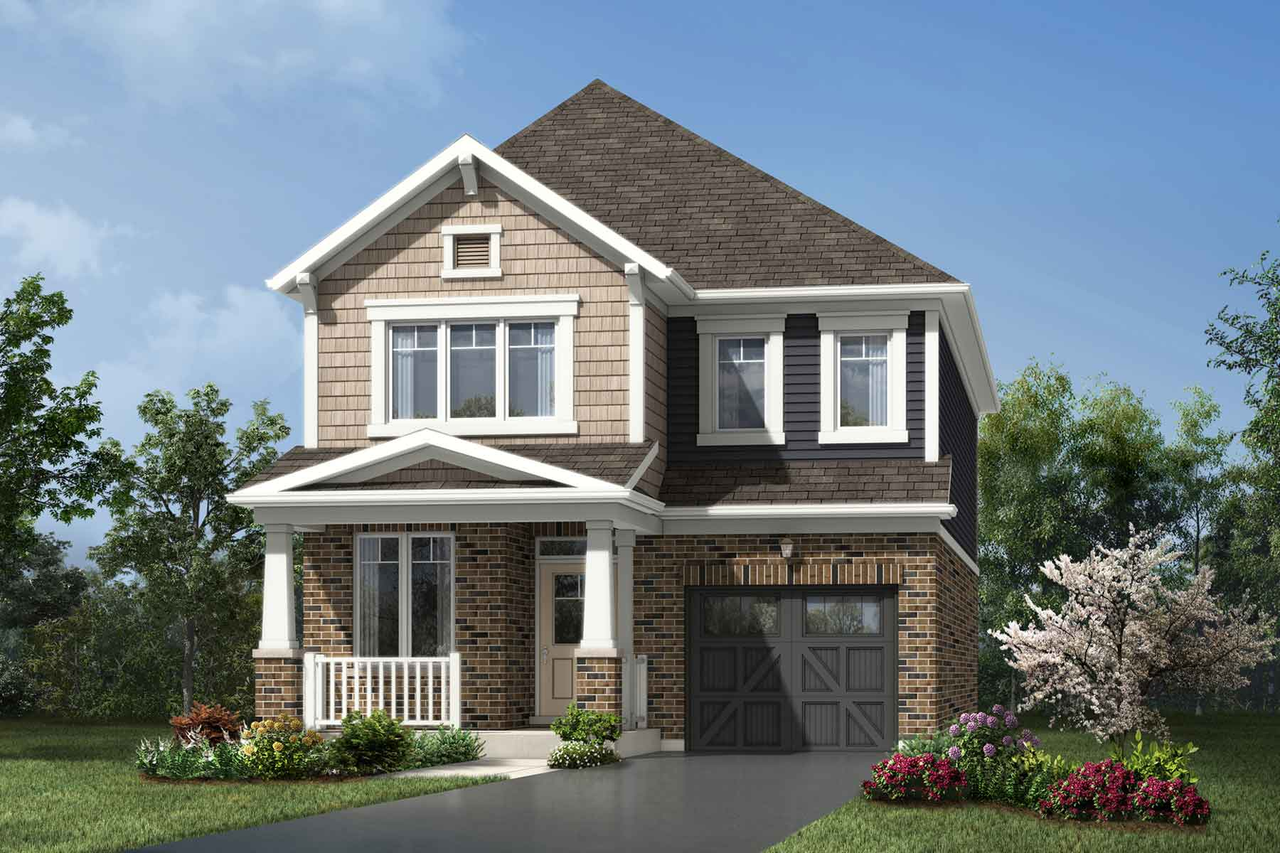 Valley View Plan Elevation Front at Seaton Whitevale in Pickering Ontario by Mattamy Homes