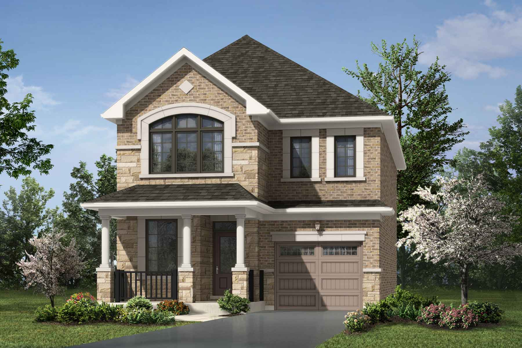 Sherwood Plan Elevation Front at Seaton Whitevale in Pickering Ontario by Mattamy Homes