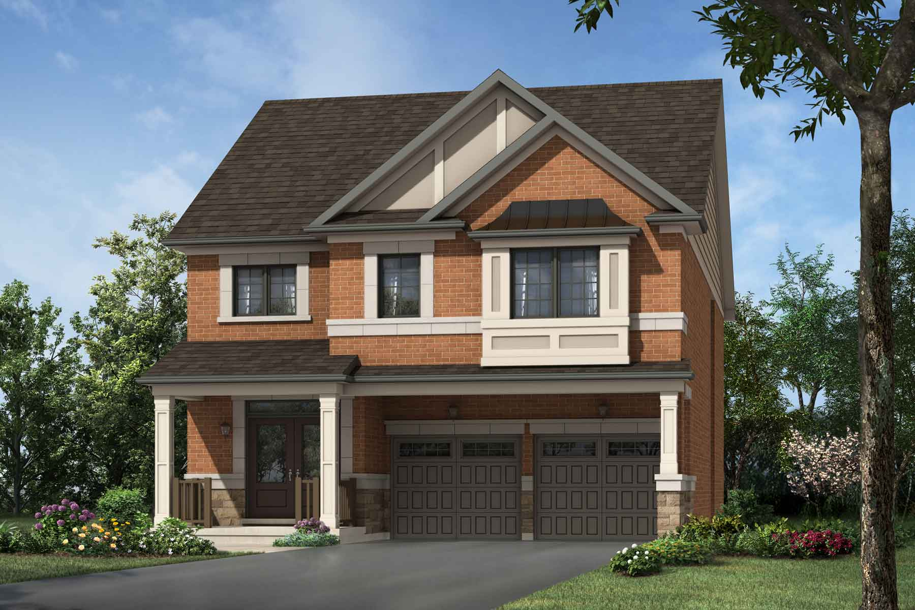 Valley View Plan traditional_seatonwhitevale_valleyview at Seaton Whitevale in Pickering Ontario by Mattamy Homes