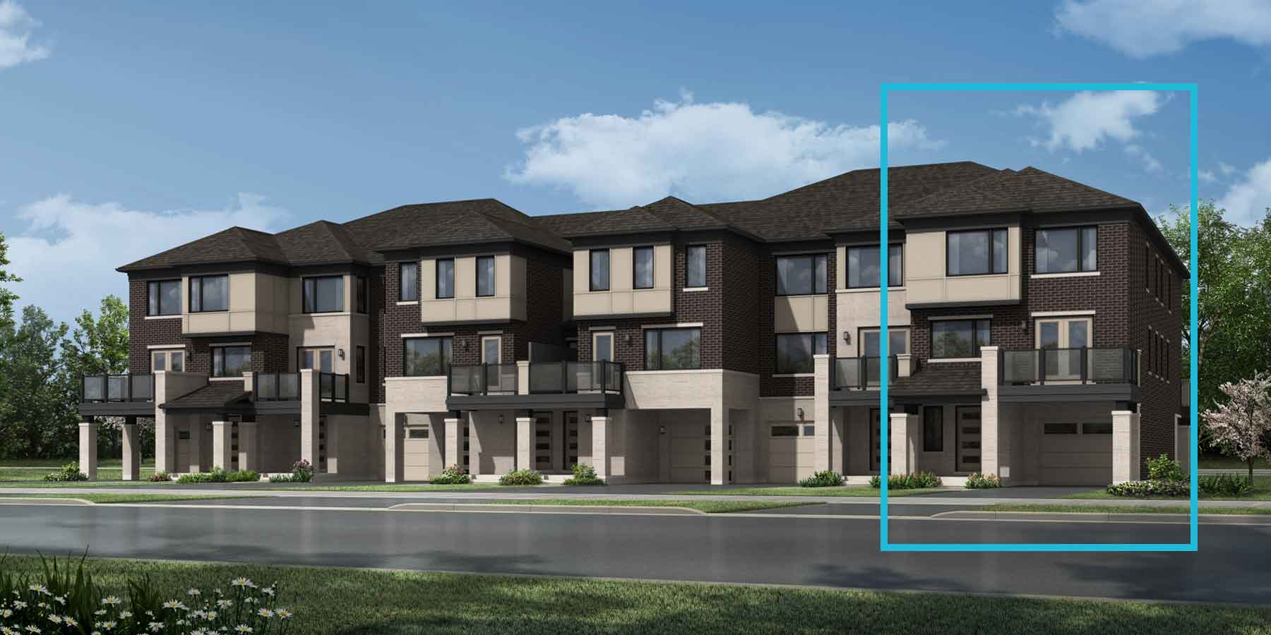 Watson End Plan TownHomes at Seaton Whitevale in Pickering Ontario by Mattamy Homes