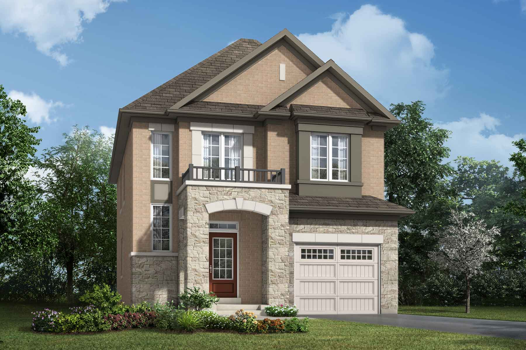 Calhoun Plan Elevation Front at Soleil in Milton Ontario by Mattamy Homes