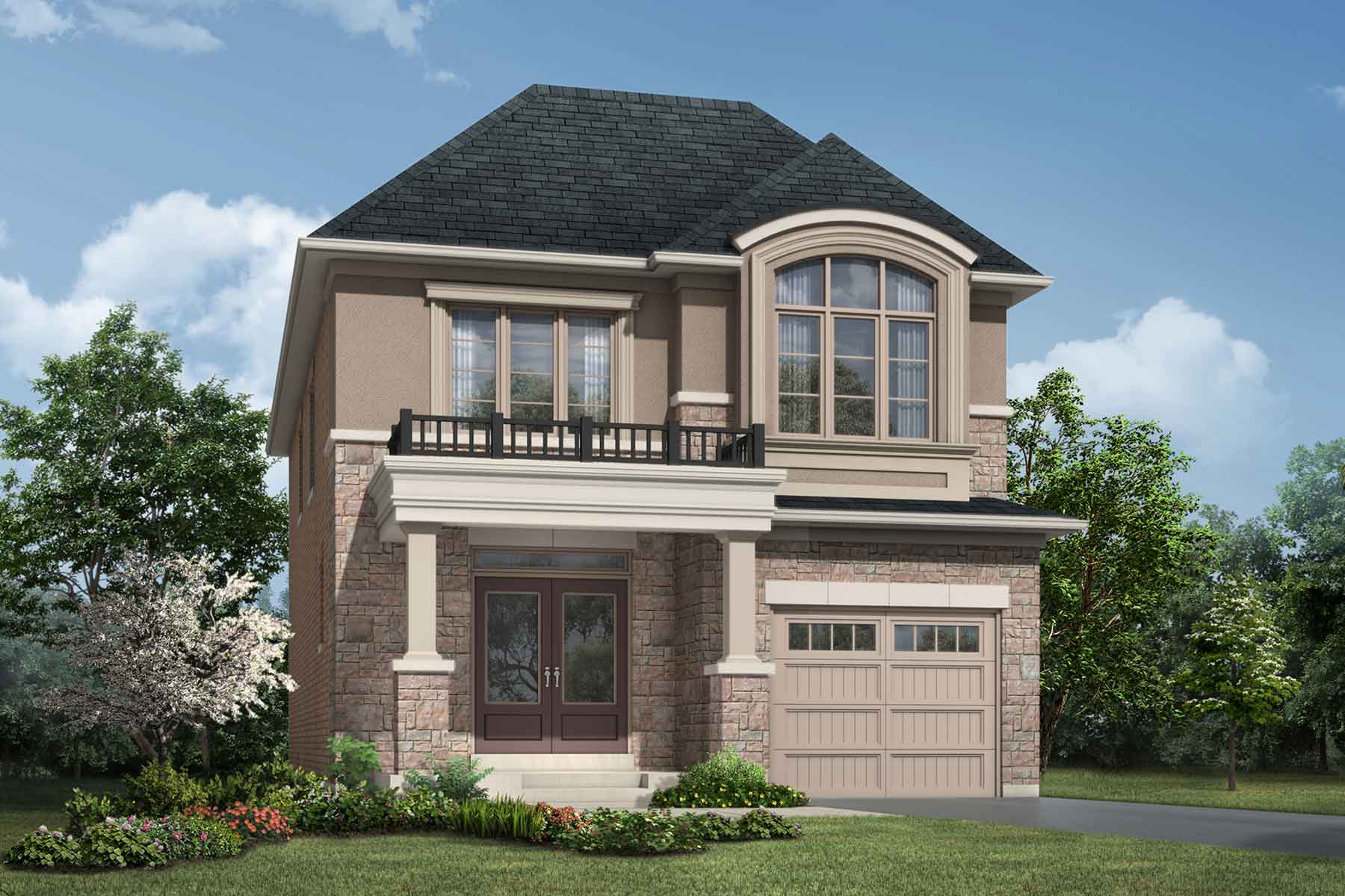 Foster Plan Elevation Front at Soleil in Milton Ontario by Mattamy Homes