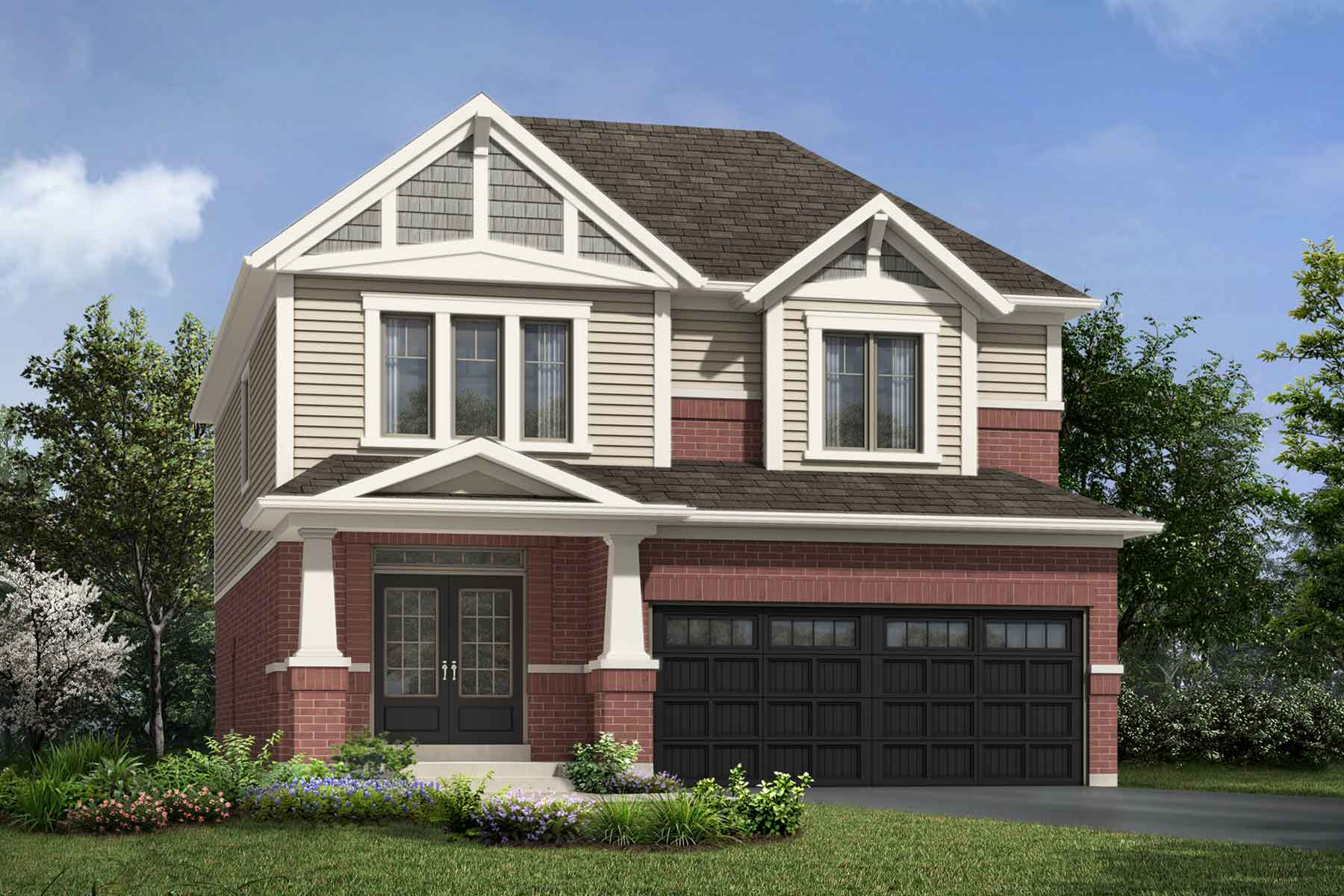 Granby Plan ElevationCraftsman_Soleil_Granby at Soleil in Milton Ontario by Mattamy Homes