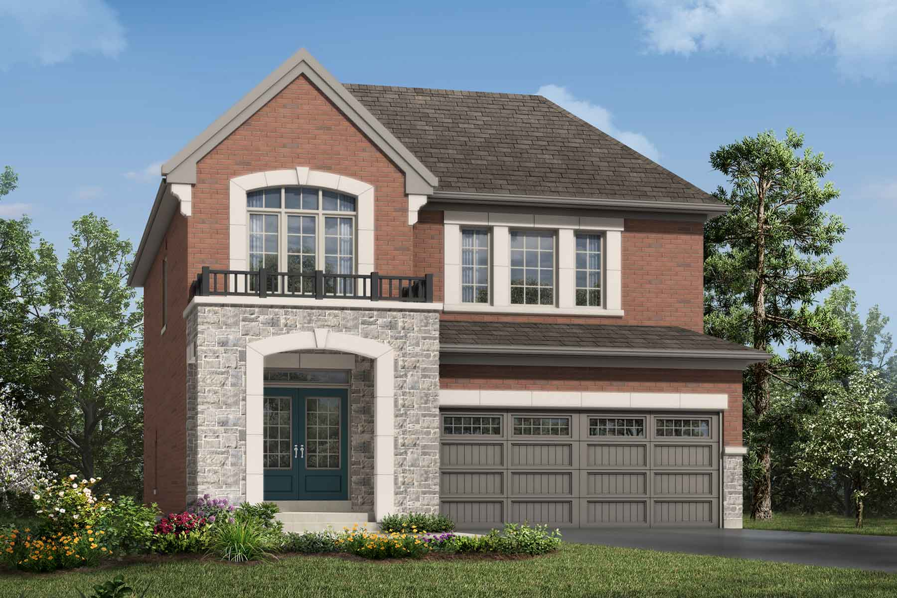 Granby Plan Elevation Front at Soleil in Milton Ontario by Mattamy Homes