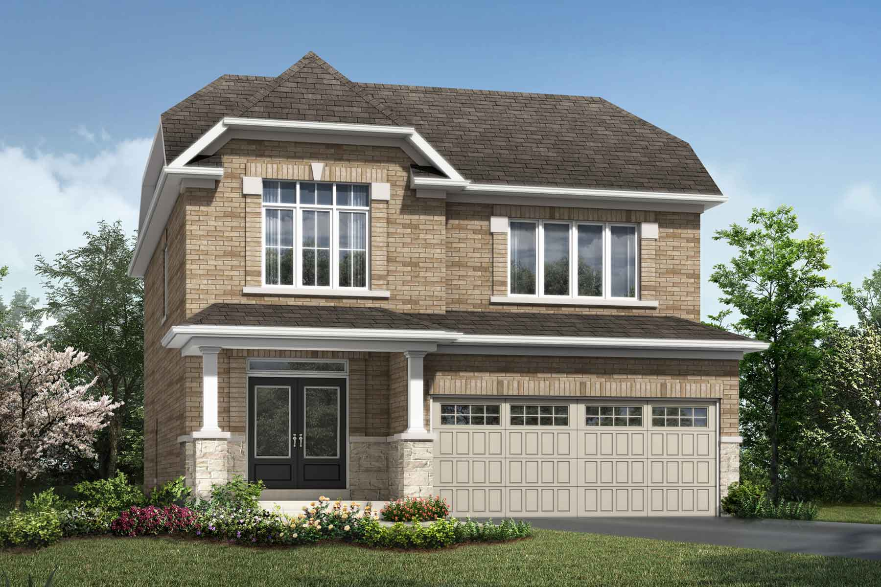Granby Plan ElevationTraditional_Soleil_Granby at Soleil in Milton Ontario by Mattamy Homes