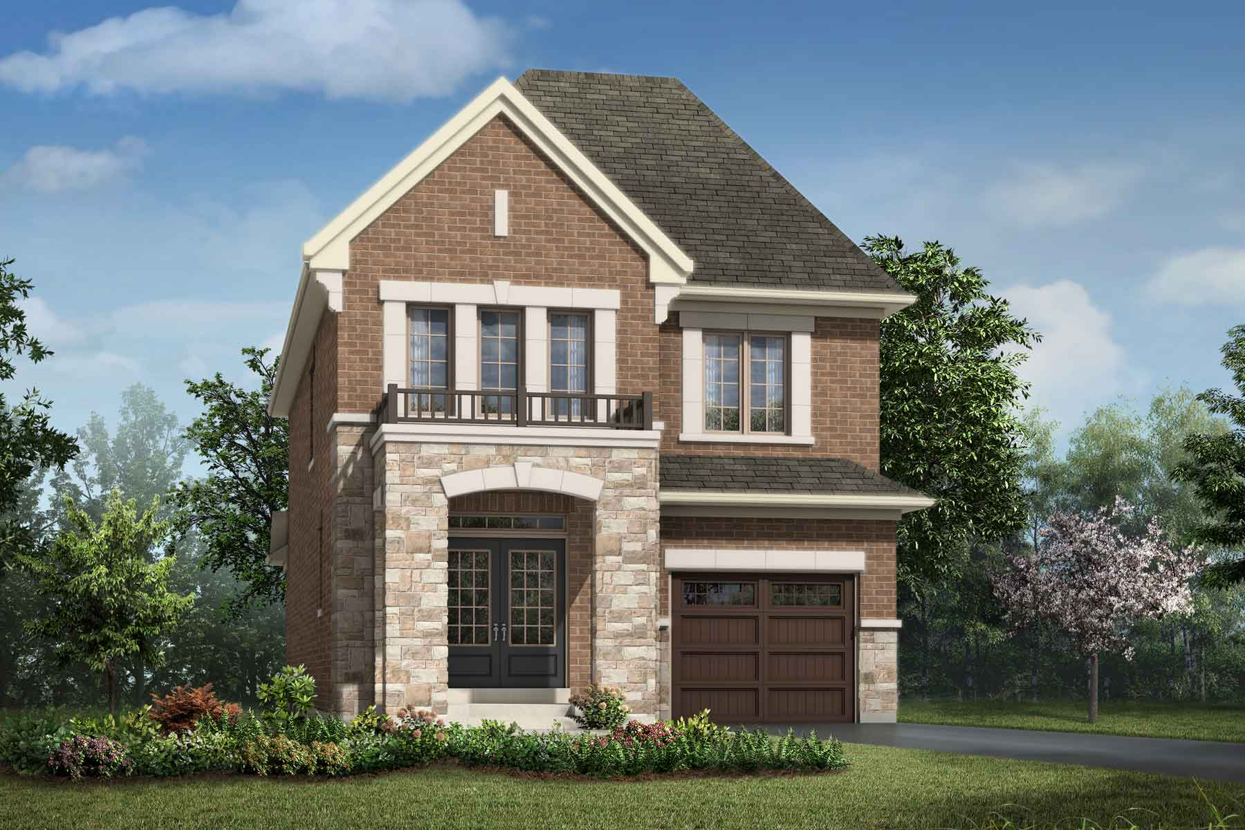 Holbrook Plan Elevation Front at Soleil in Milton Ontario by Mattamy Homes