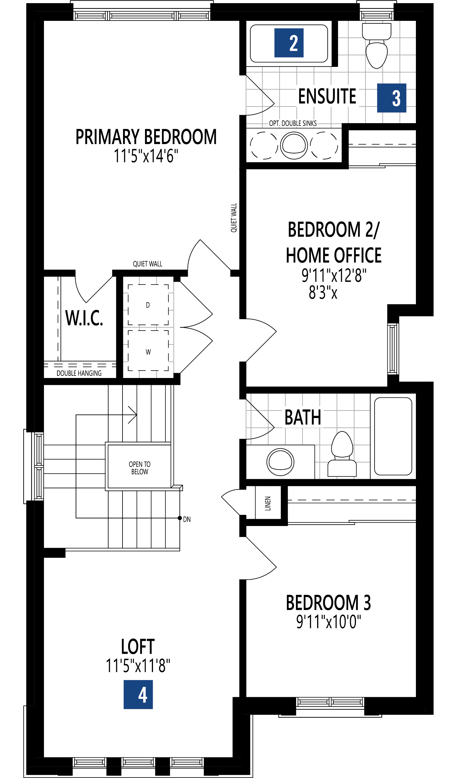 Holbrook Plan Floor Plan at Soleil in Milton Ontario by Mattamy Homes