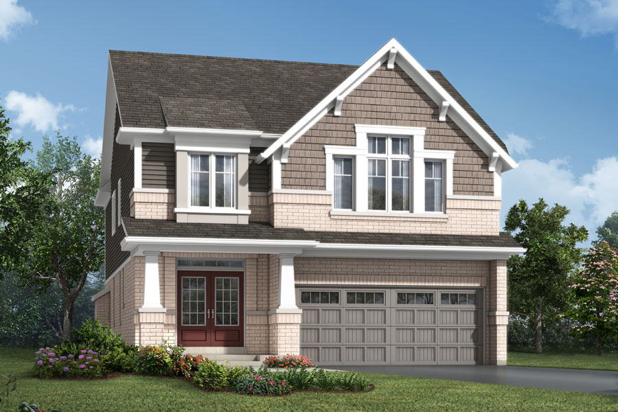 Lawson Plan Elevation Front at Soleil in Milton Ontario by Mattamy Homes