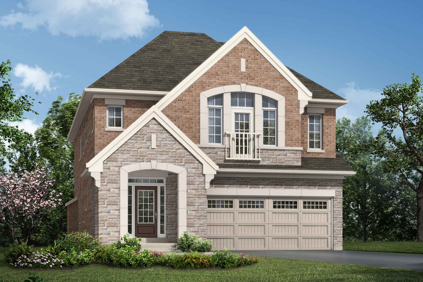 Lawson Plan Elevation Front at Hawthorne South Village Sixteen Mile Creek in Milton Ontario by Mattamy Homes