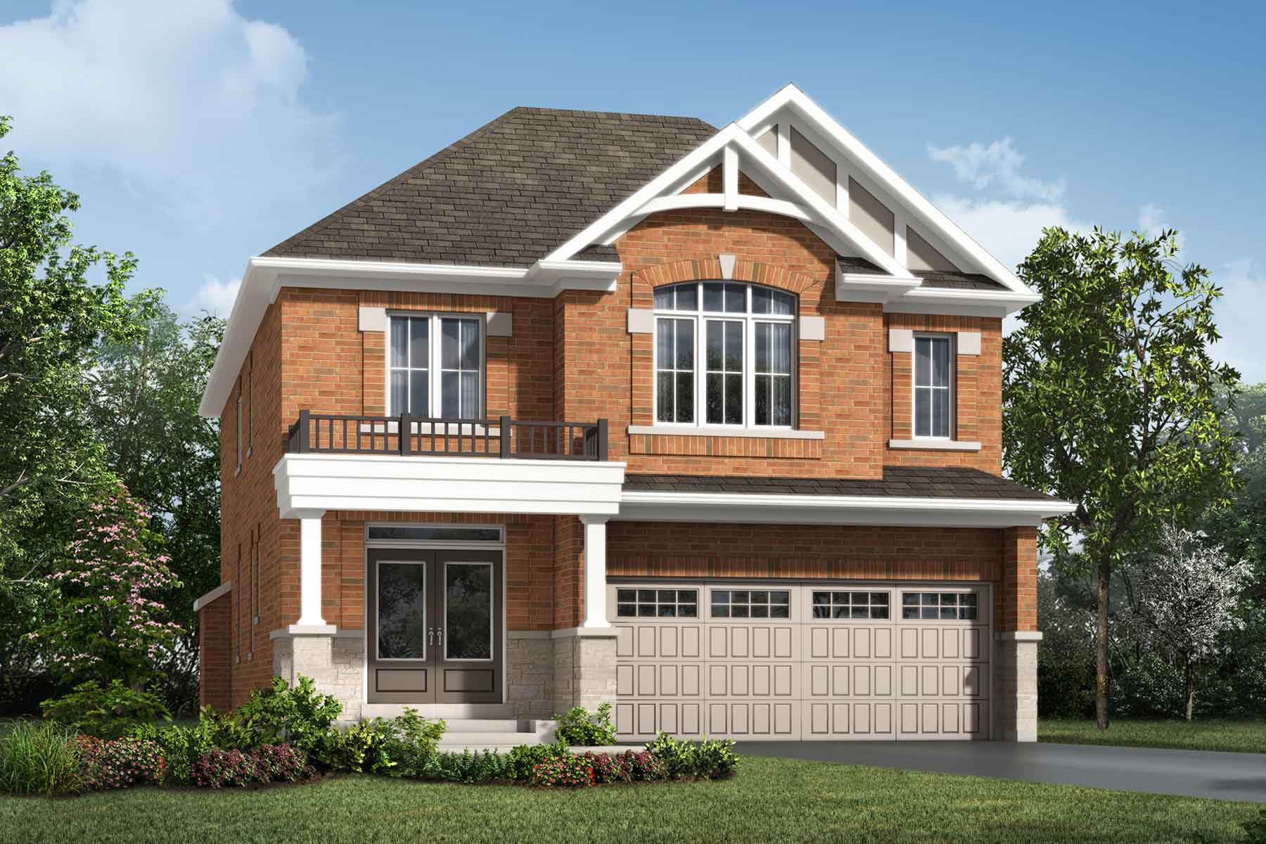 Lawson Plan ElevationTraditional_Soleil_Lawson_Main at Soleil in Milton Ontario by Mattamy Homes