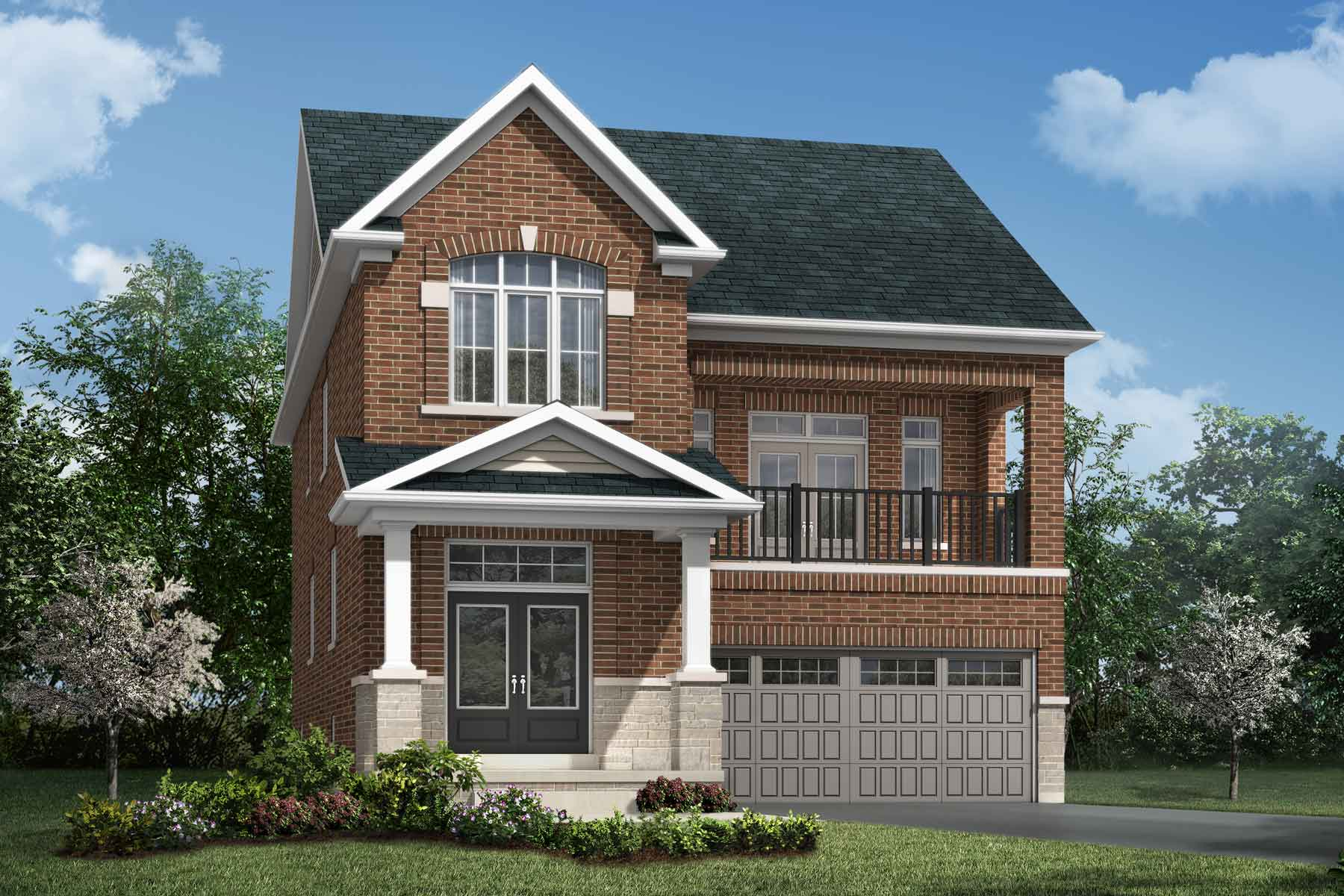 Montrose Plan Elevation Front at Soleil in Milton Ontario by Mattamy Homes