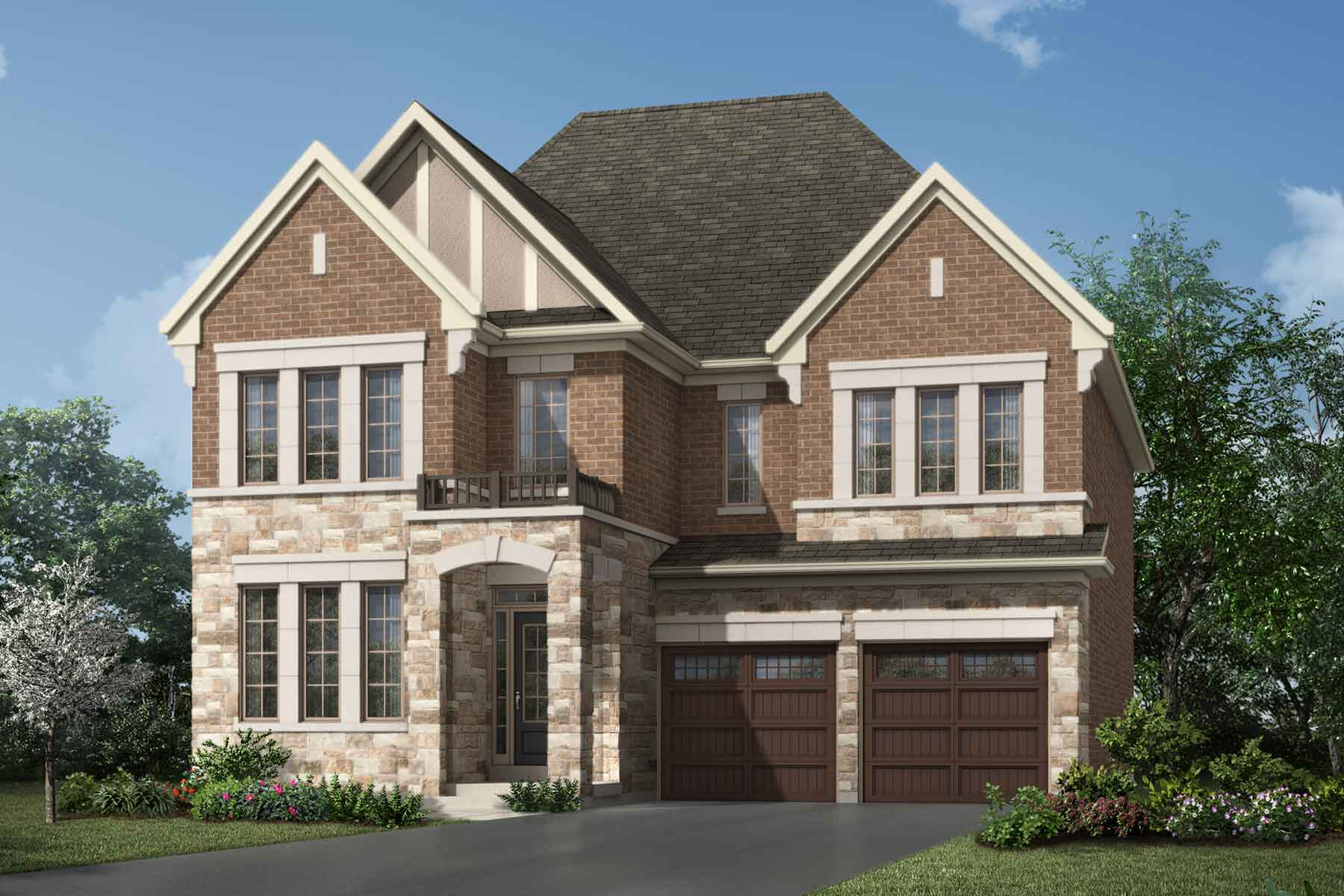 Morrison Plan Elevation Front at Hawthorne South Village Sixteen Mile Creek in Milton Ontario by Mattamy Homes