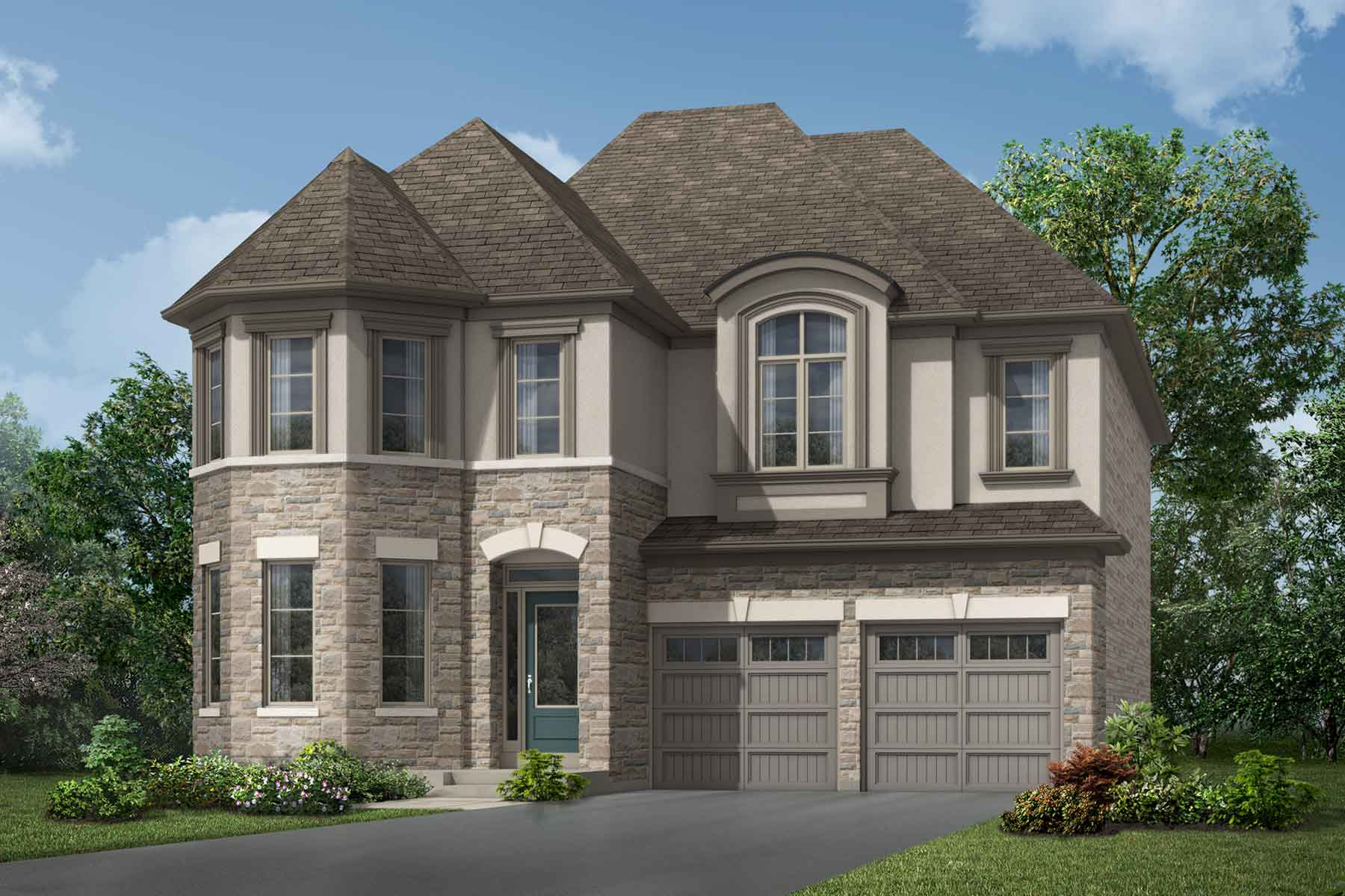 Morrison Plan Elevation Front at Soleil in Milton Ontario by Mattamy Homes