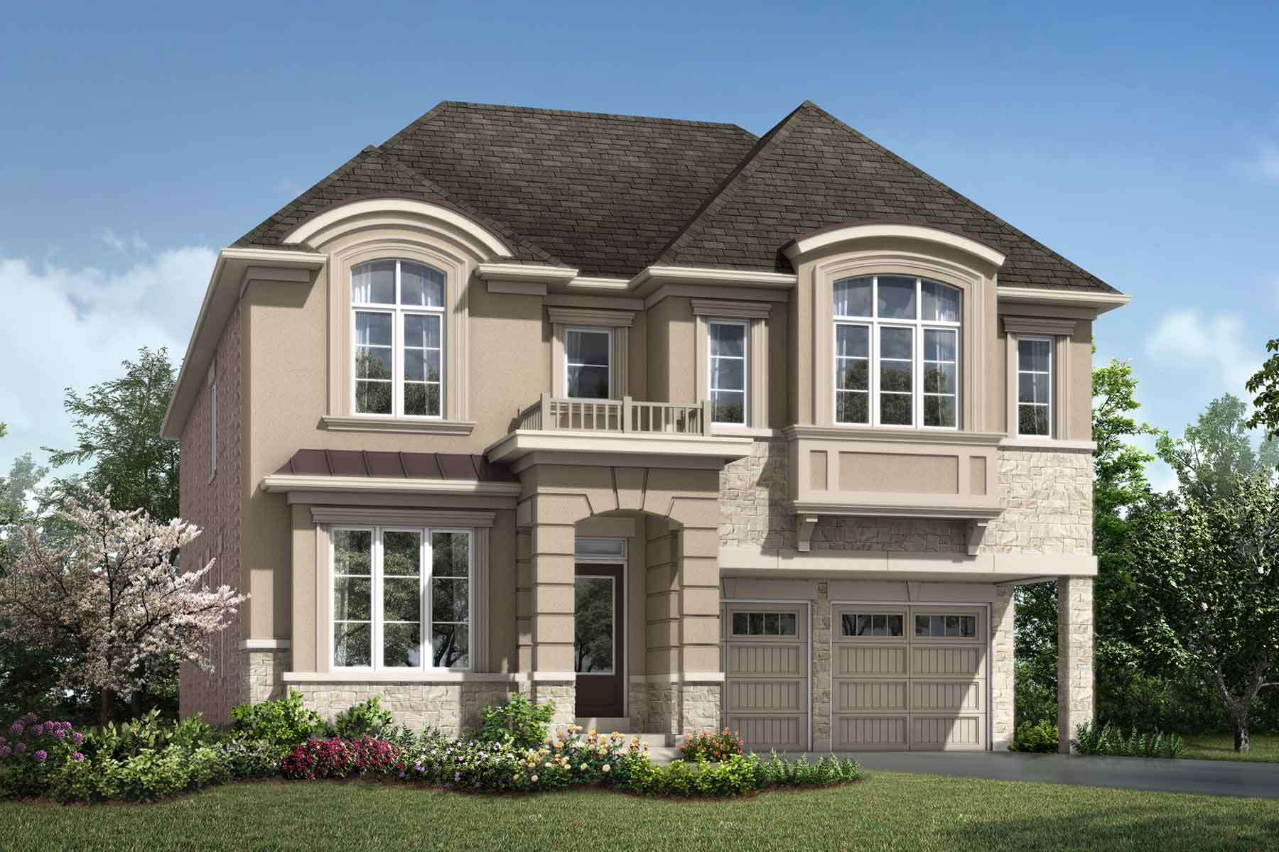 Sutton Plan Elevation Front at Hawthorne South Village Sixteen Mile Creek in Milton Ontario by Mattamy Homes
