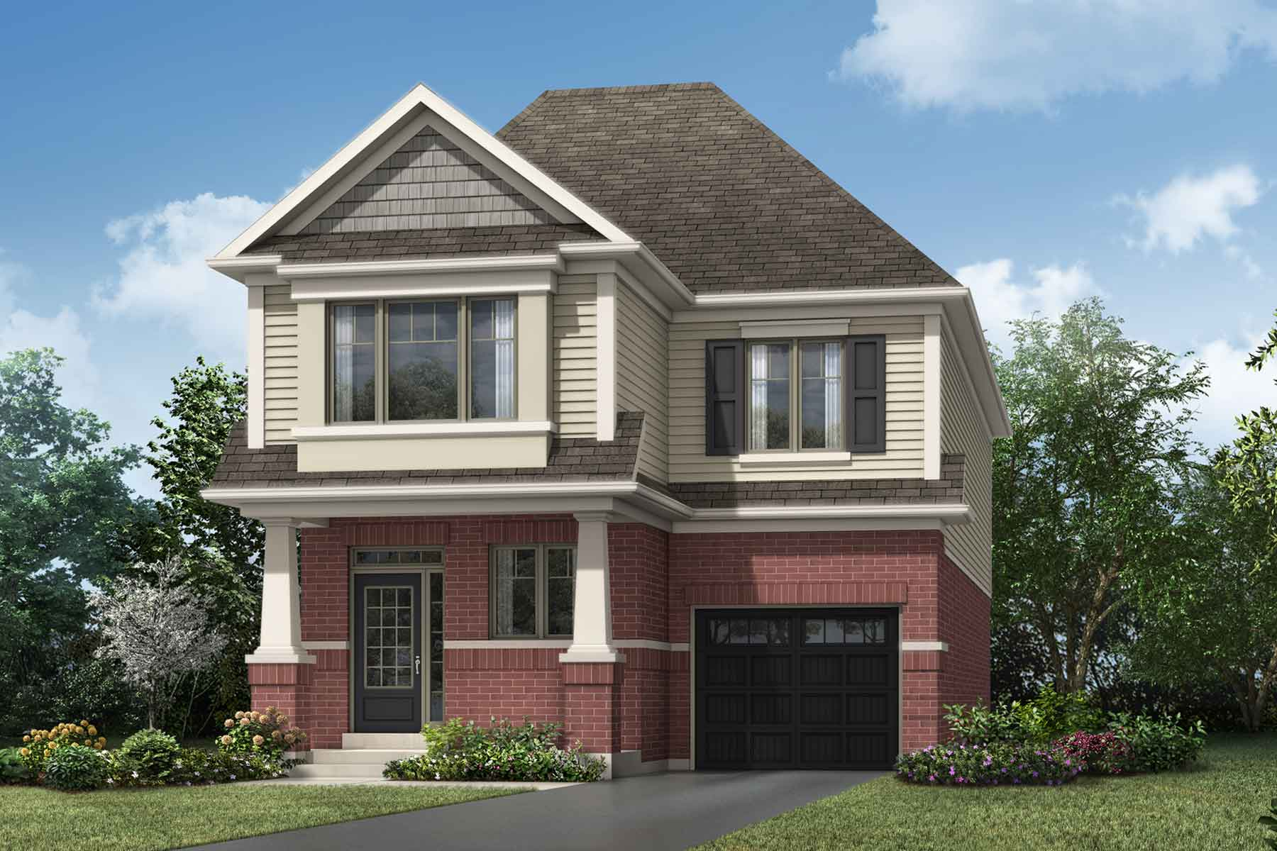 Whitney Plan Elevation Front at Soleil in Milton Ontario by Mattamy Homes
