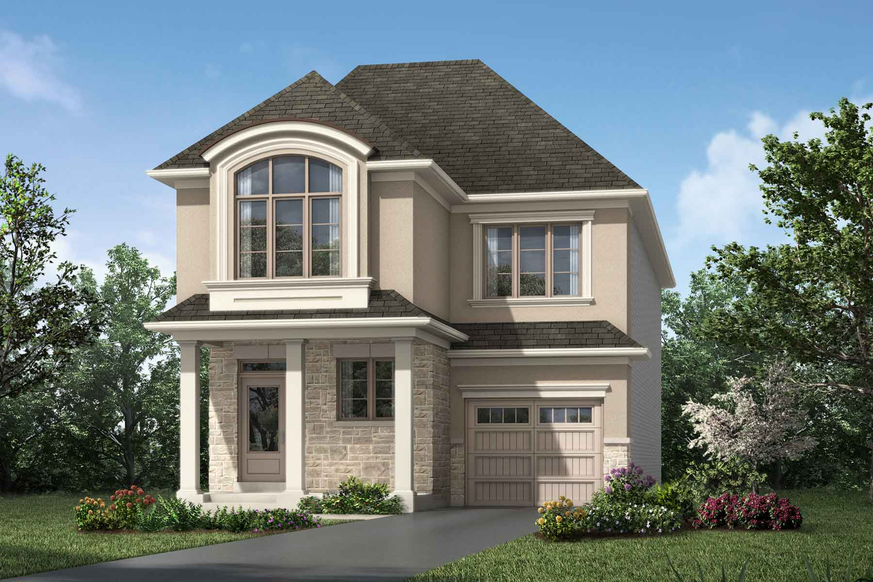 Whitney Plan ElevationFrenchChateau_Soleil_Whitney at Soleil in Milton Ontario by Mattamy Homes