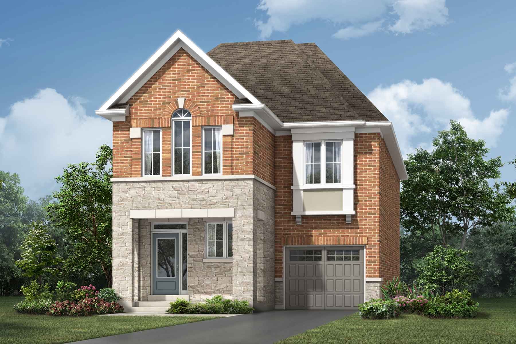 Whitney Plan ElevationTraditional_Soleil_Whitney at Soleil in Milton Ontario by Mattamy Homes