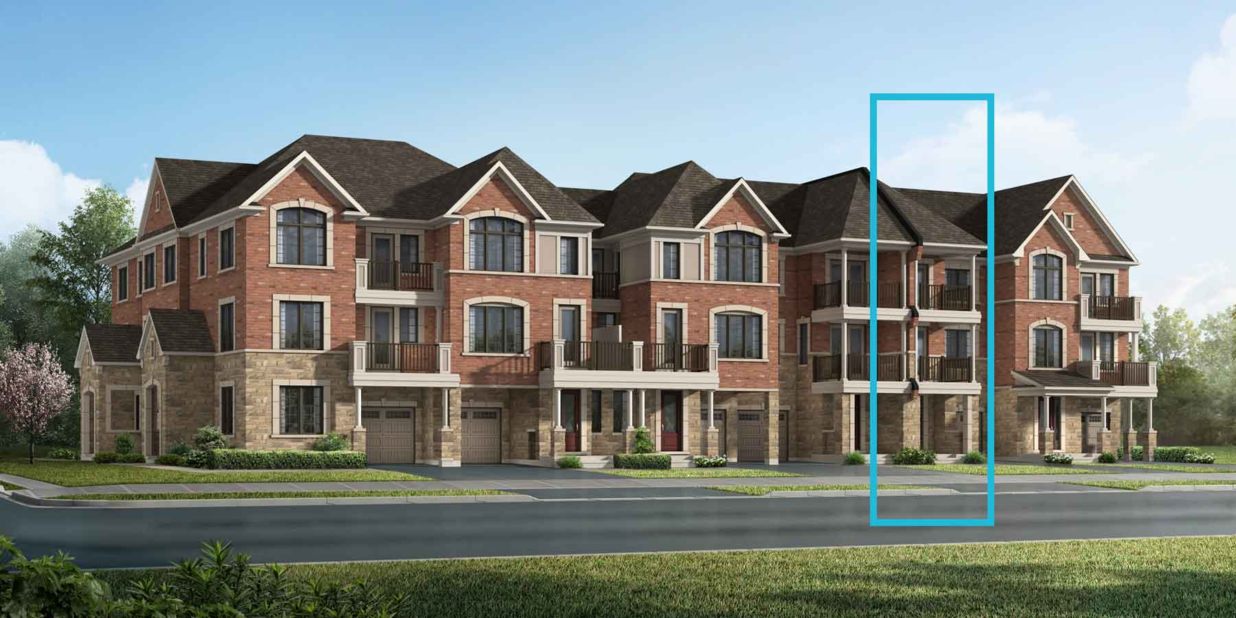 Daffodil Plan TownHomes at Springwater in Markham Ontario by Mattamy Homes