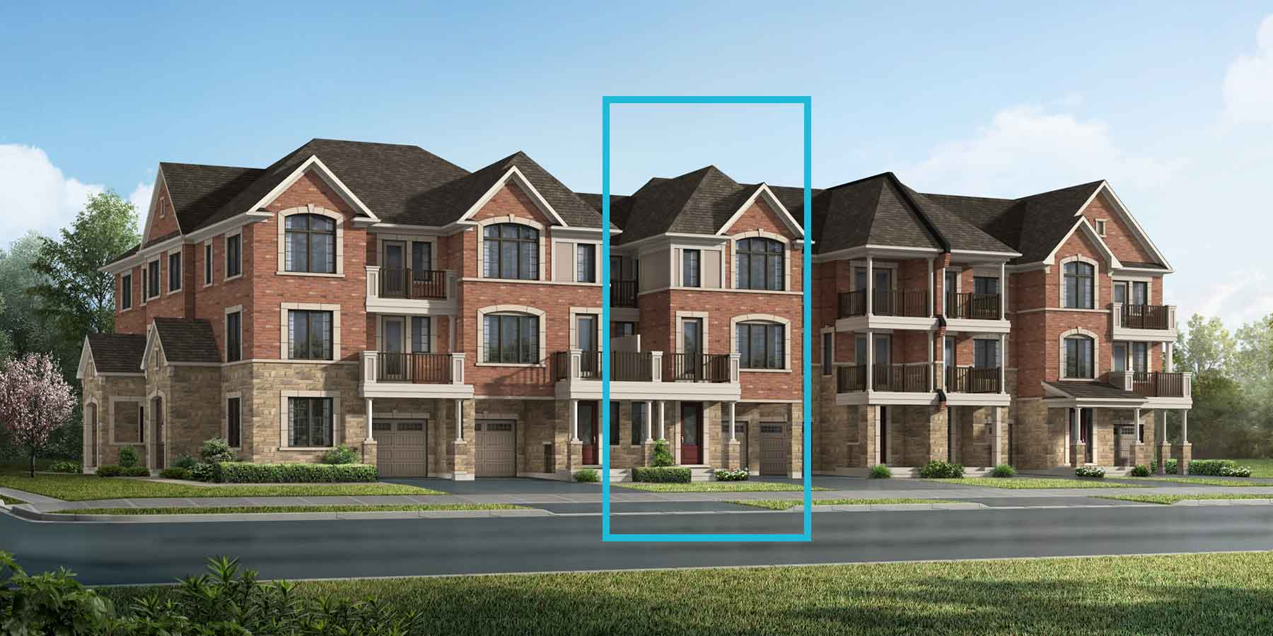 Honey Plan TownHomes at Springwater in Markham Ontario by Mattamy Homes