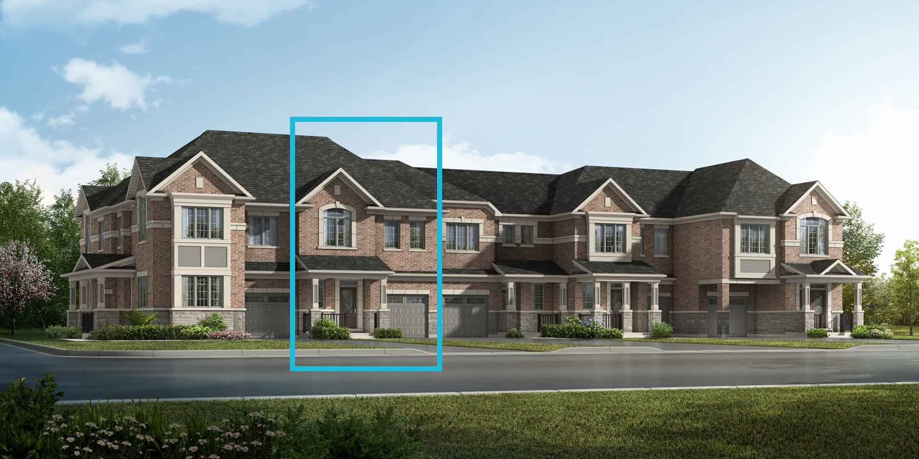 Kelly Plan TownHomes at Springwater in Markham Ontario by Mattamy Homes