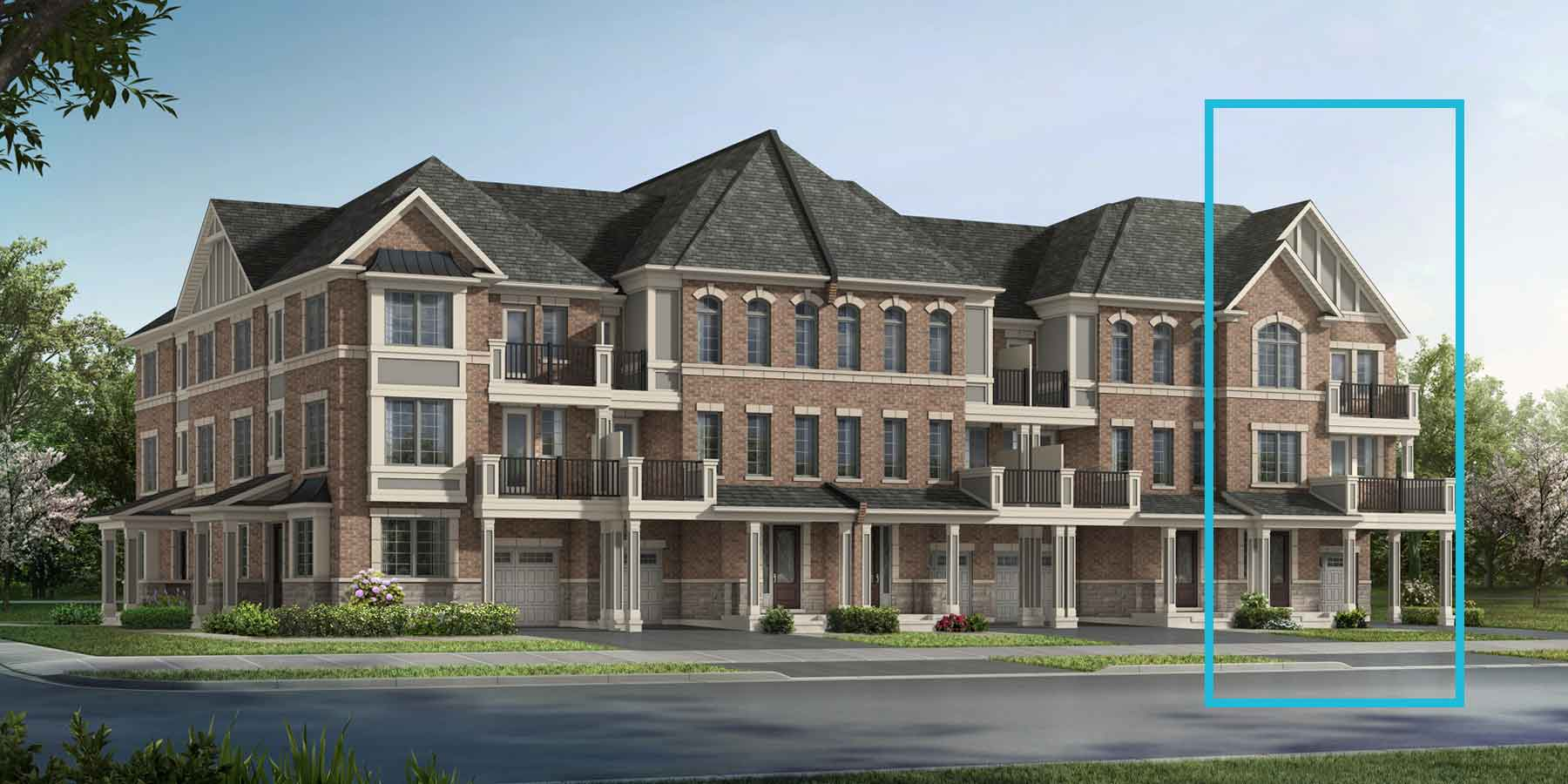 Laguna End Plan TownHomes at Springwater in Markham Ontario by Mattamy Homes