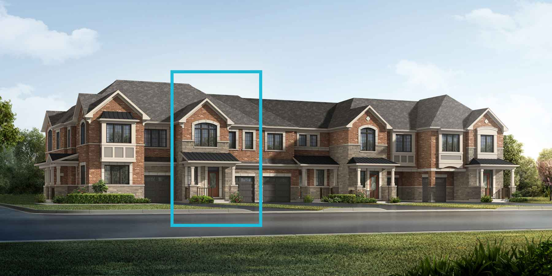 Laurel Plan TownHomes at Springwater in Markham Ontario by Mattamy Homes