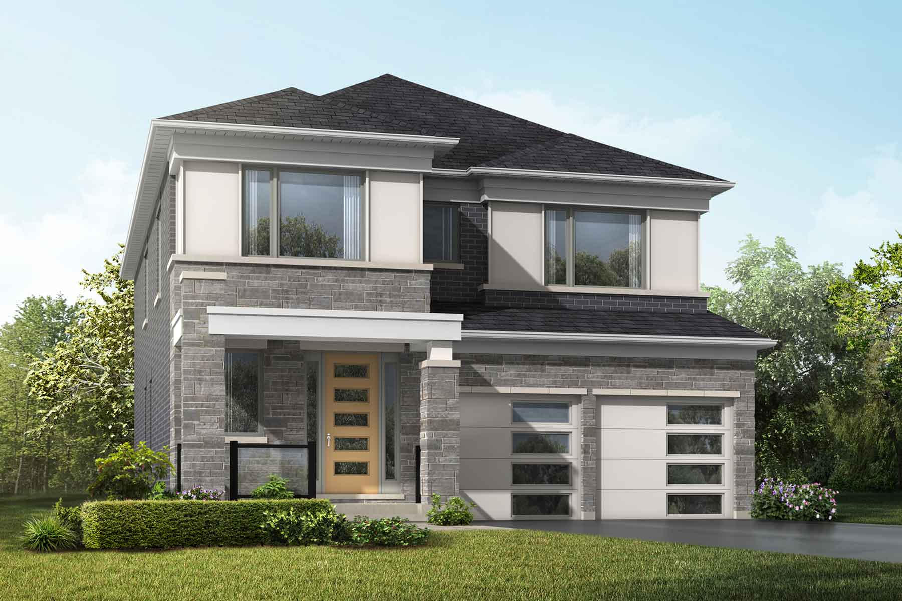 Lilac Plan Elevation Front at Springwater in Markham Ontario by Mattamy Homes