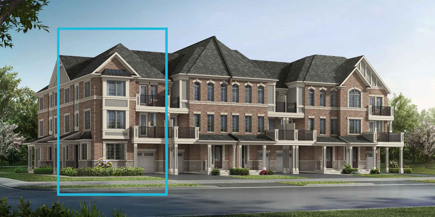 Medallion Corner Plan TownHomes at Springwater in Markham Ontario by Mattamy Homes