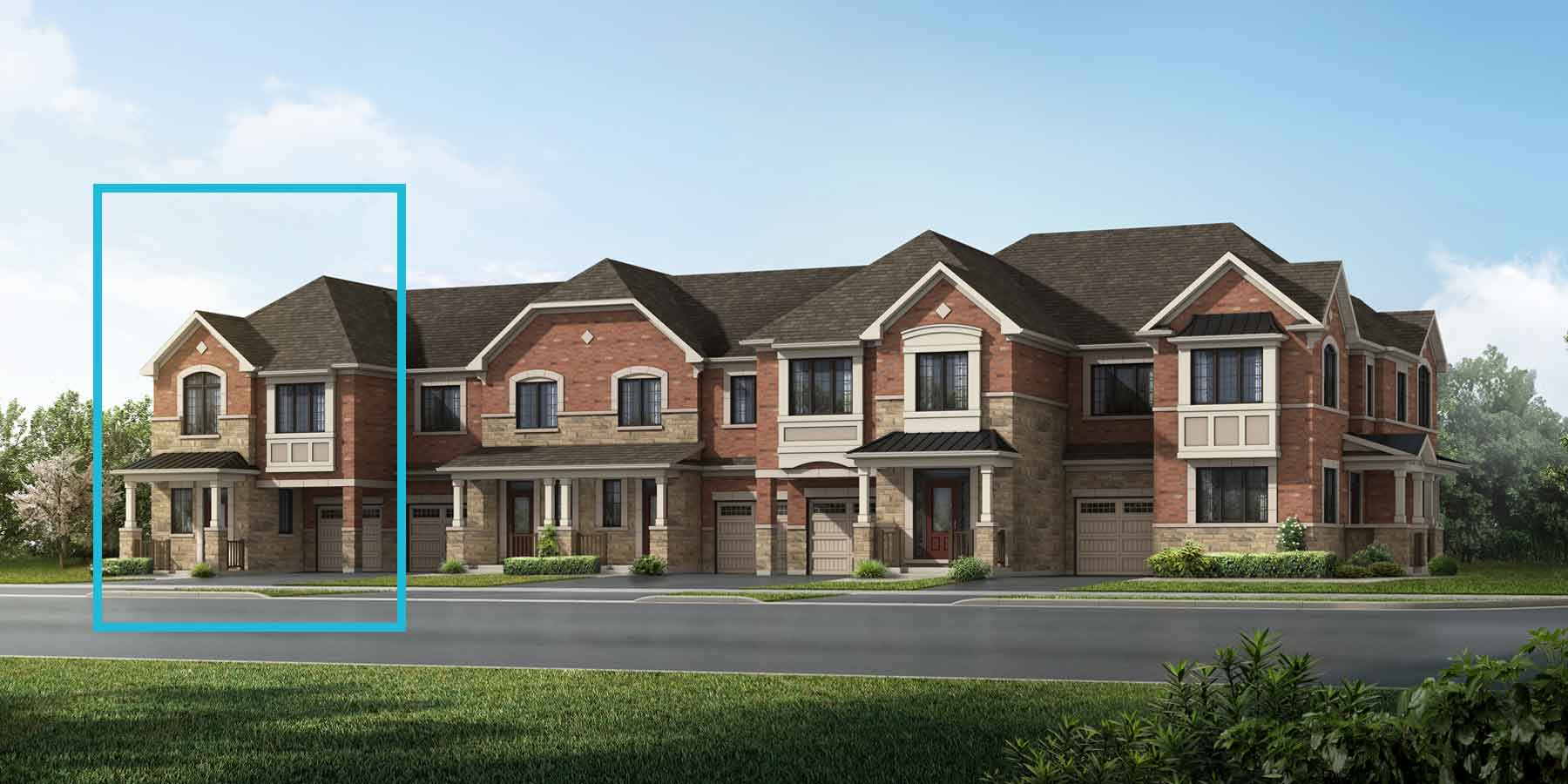 Mint End Plan TownHomes at Springwater in Markham Ontario by Mattamy Homes
