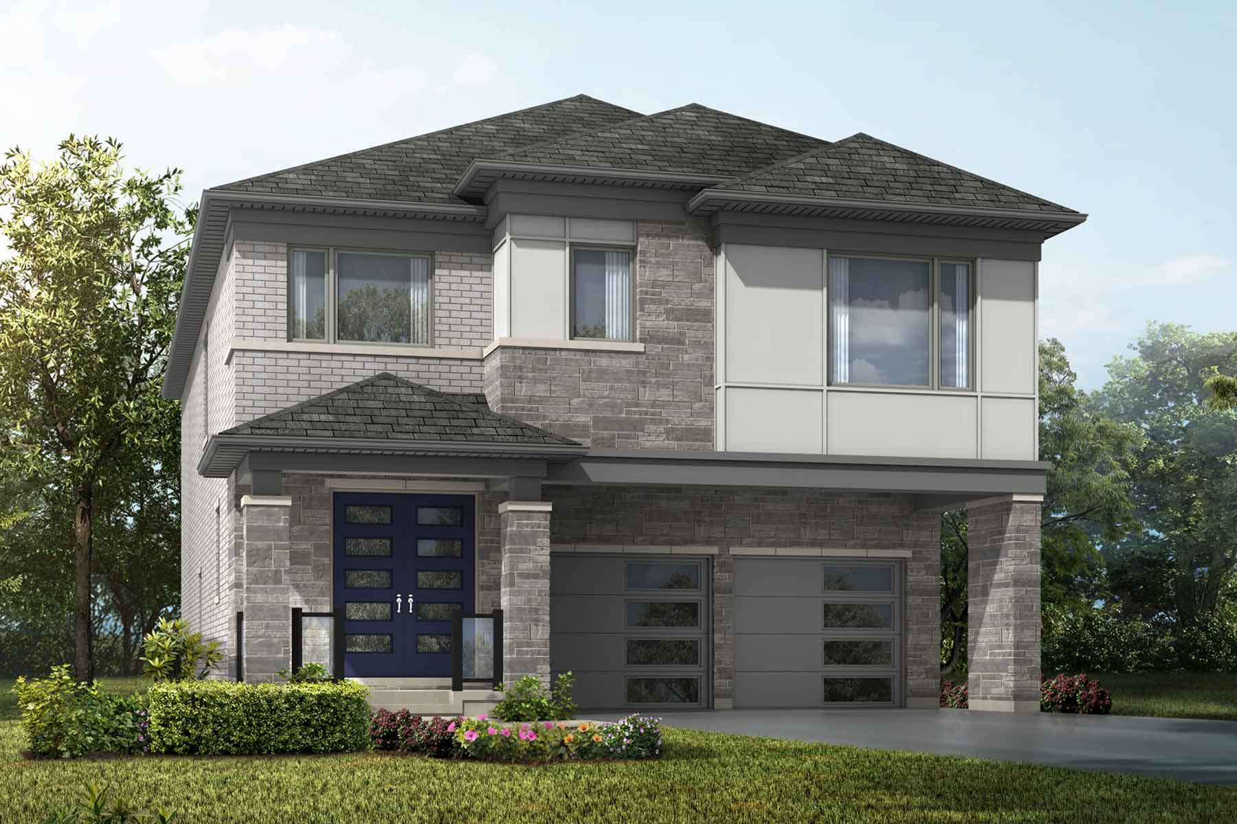 Mulberry Plan Elevation Front at Springwater in Markham Ontario by Mattamy Homes