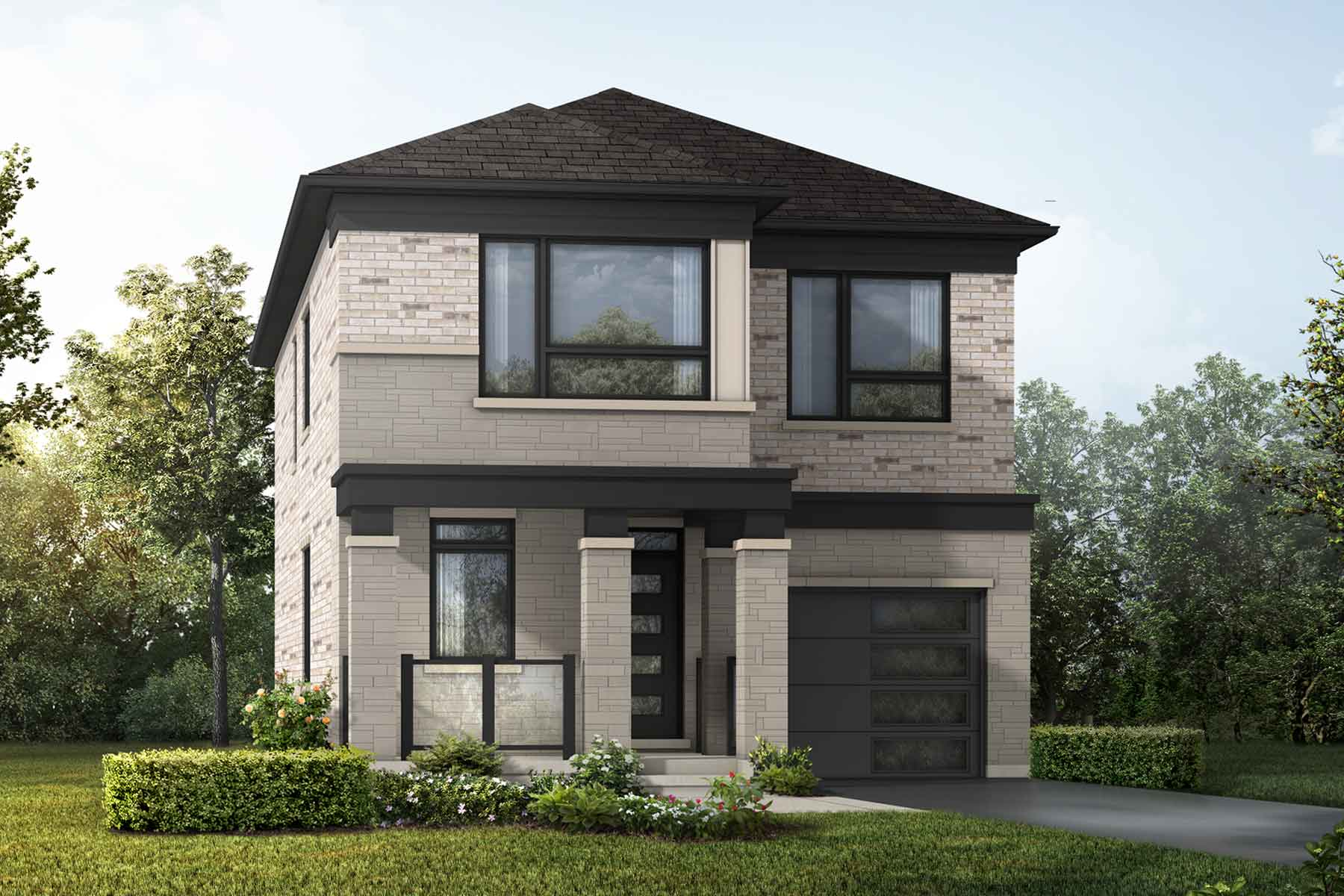 Ocean Plan Elevation Front at Springwater in Markham Ontario by Mattamy Homes