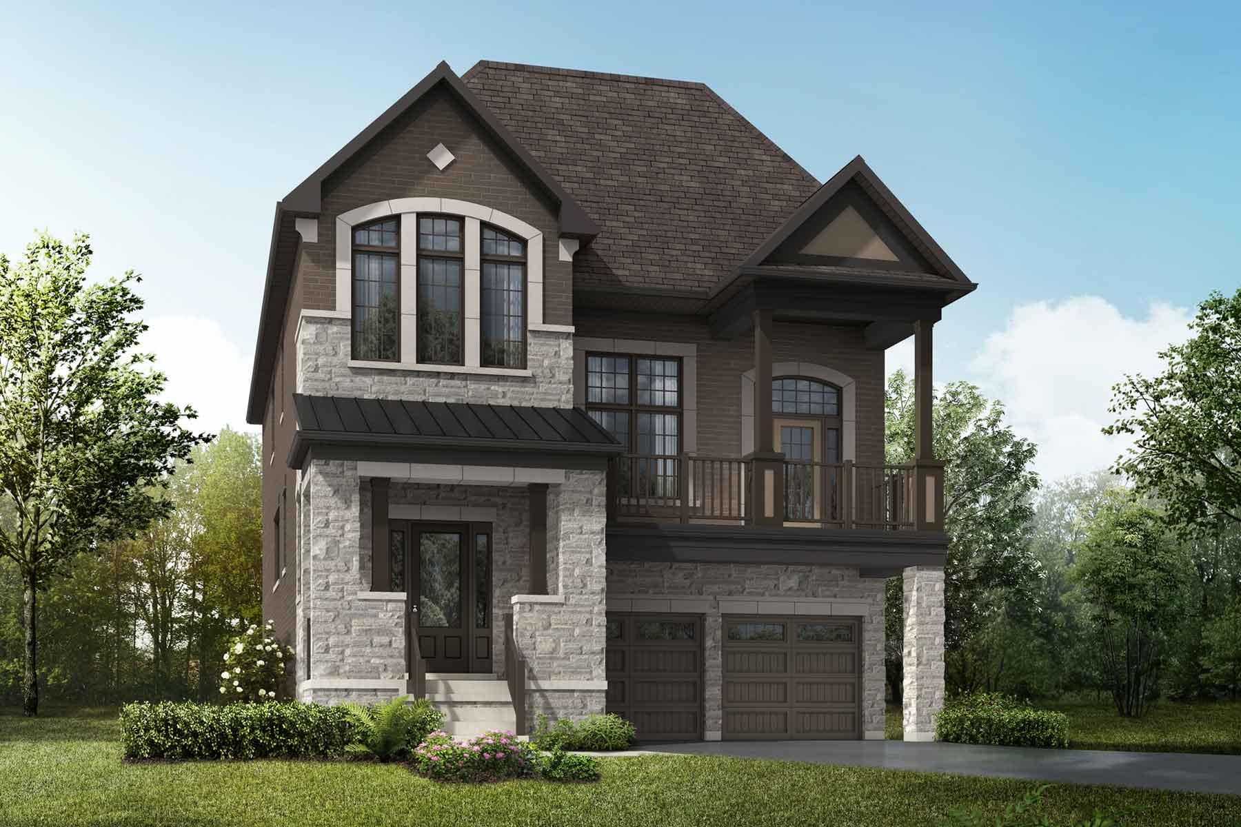 Orchid Plan englishmanor_springwater_orchid_main at Springwater in Markham Ontario by Mattamy Homes