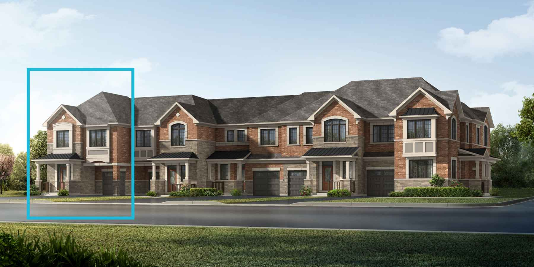 Shamrock End Plan TownHomes at Springwater in Markham Ontario by Mattamy Homes