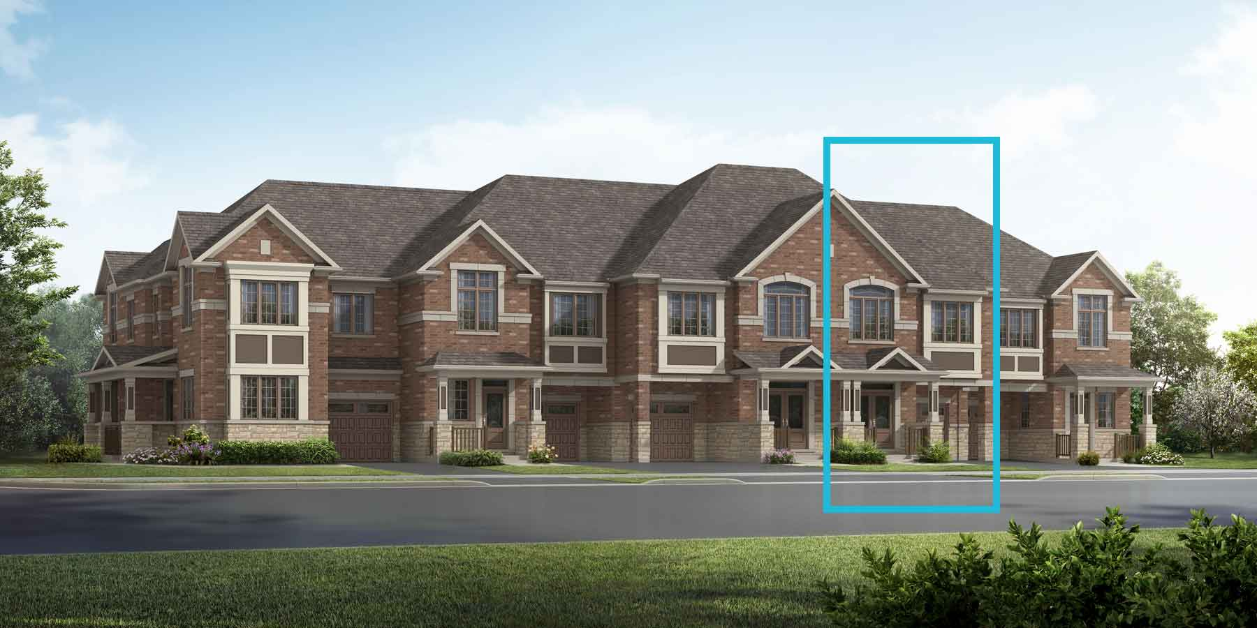 Shamrock Plan TownHomes at Springwater in Markham Ontario by Mattamy Homes