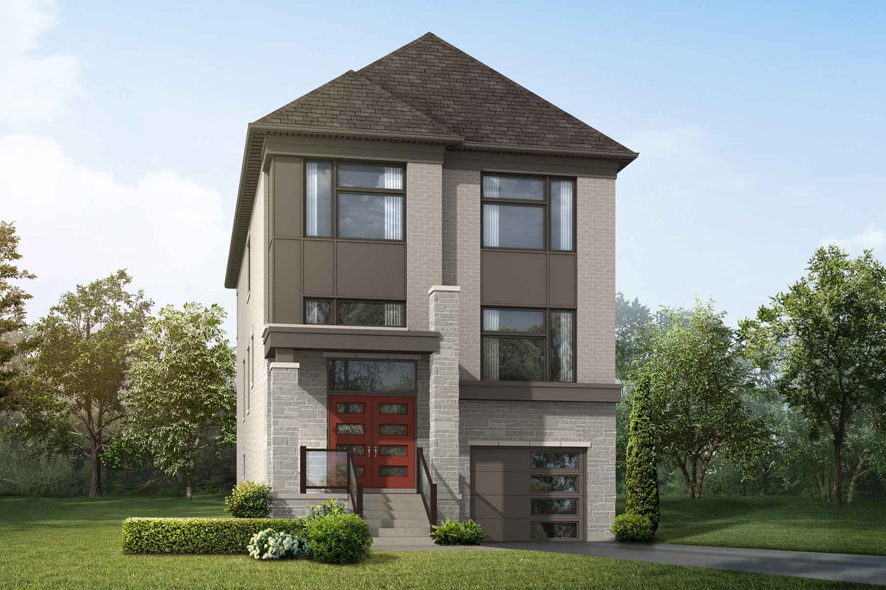 Teal Plan modern_springwater_teal_main at Springwater in Markham Ontario by Mattamy Homes